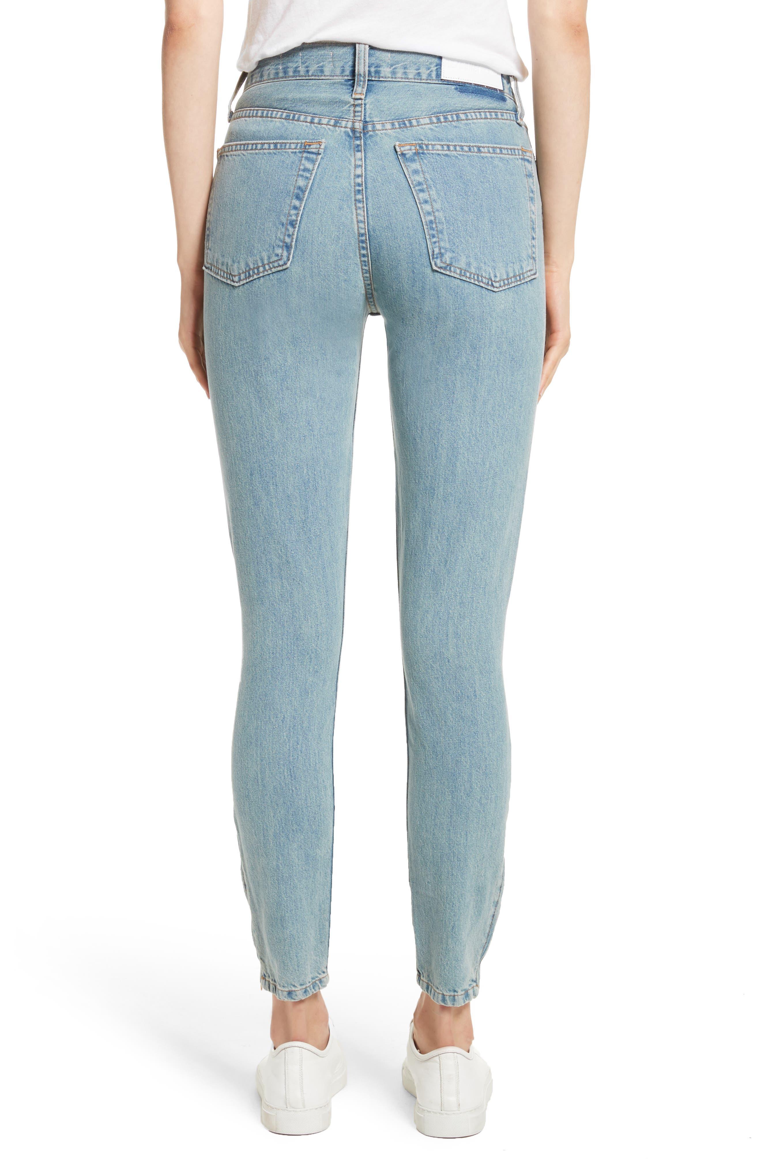 Originals High Waist Ankle Zip Jeans,                             Alternate thumbnail 2, color,                             90S