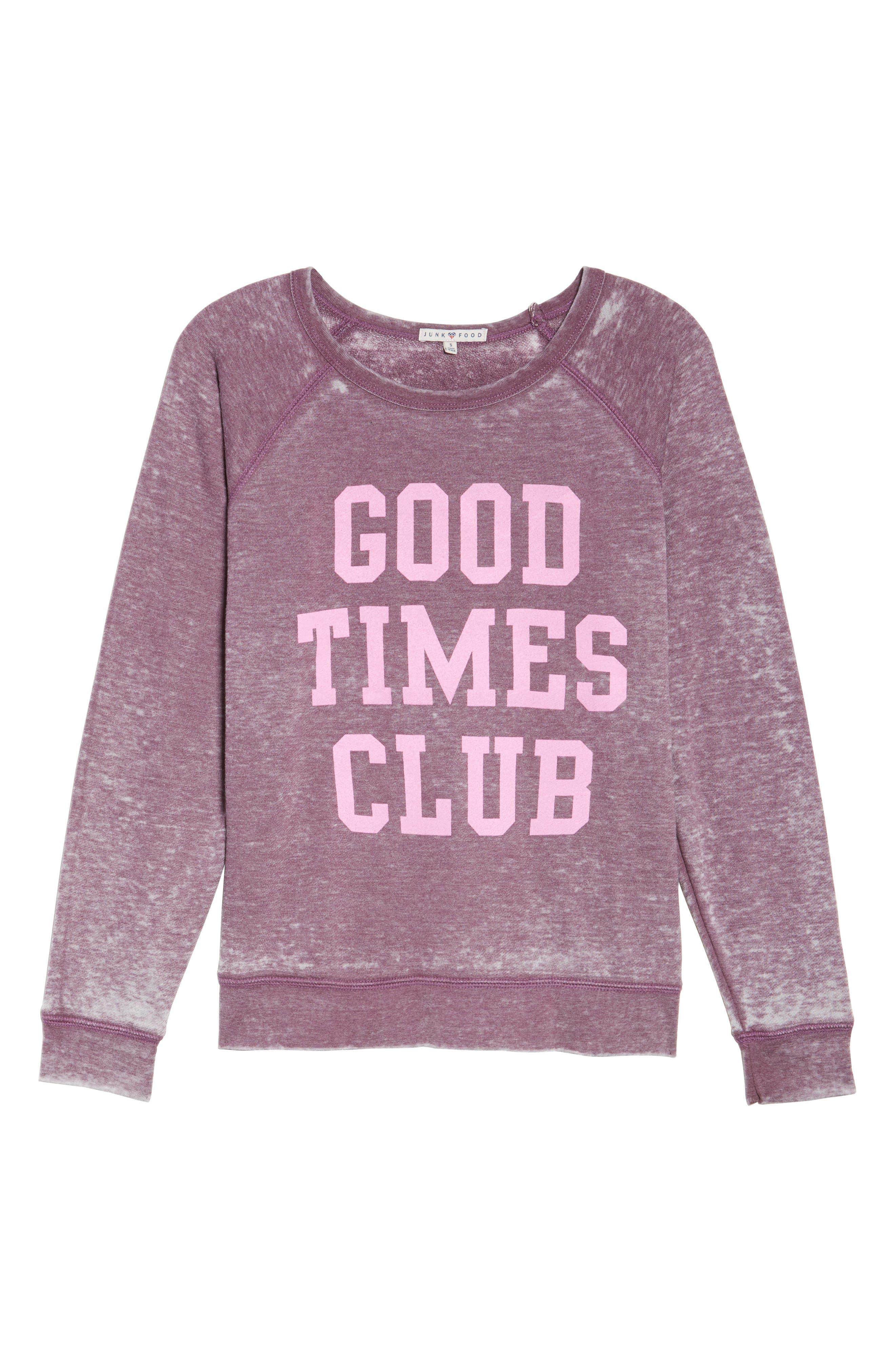 Alternate Image 4  - Junk Food Weekend - Good Times Club Pullover