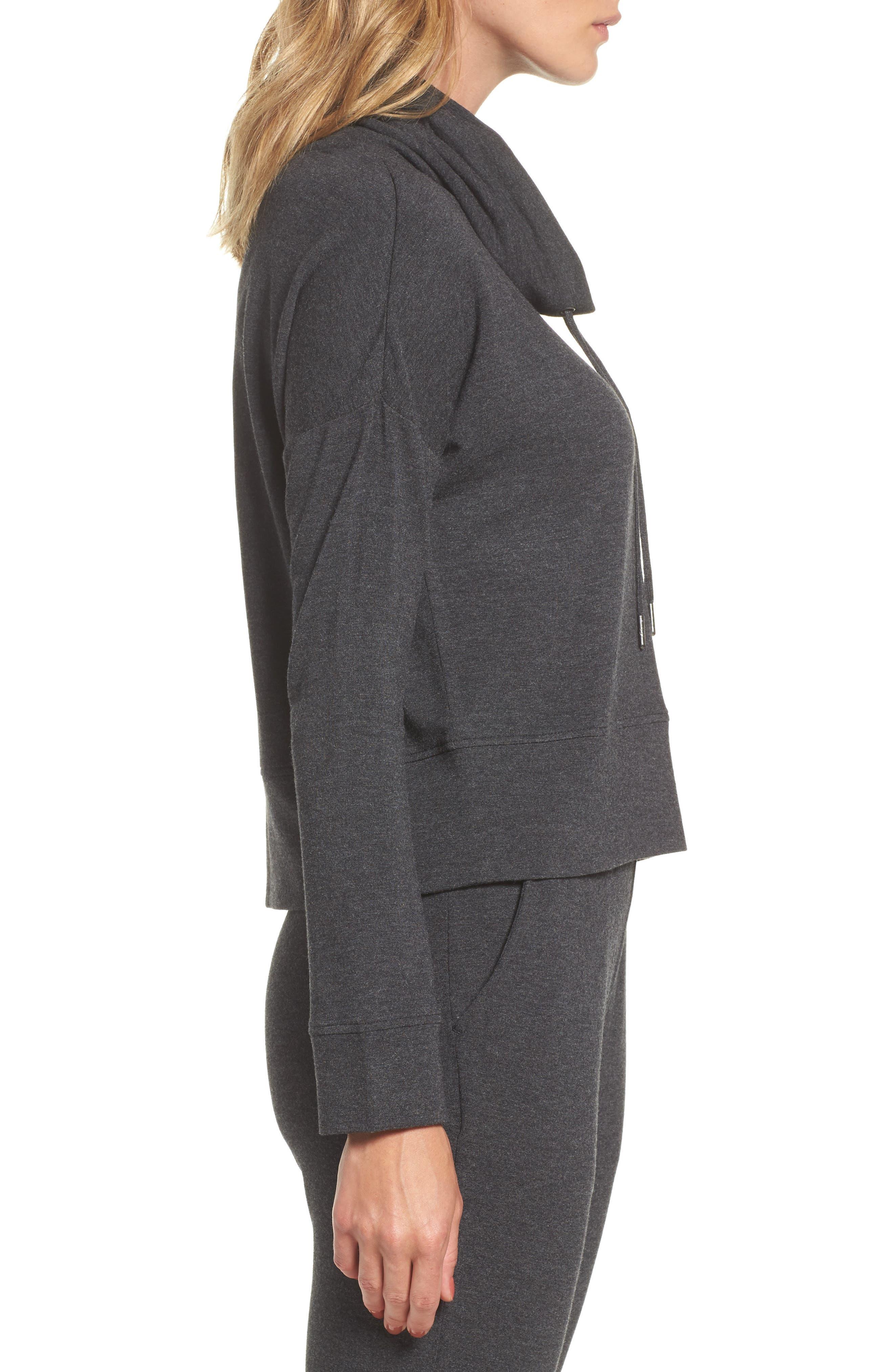 Alternate Image 3  - UGG® Funnel Neck Crop Sweatshirt