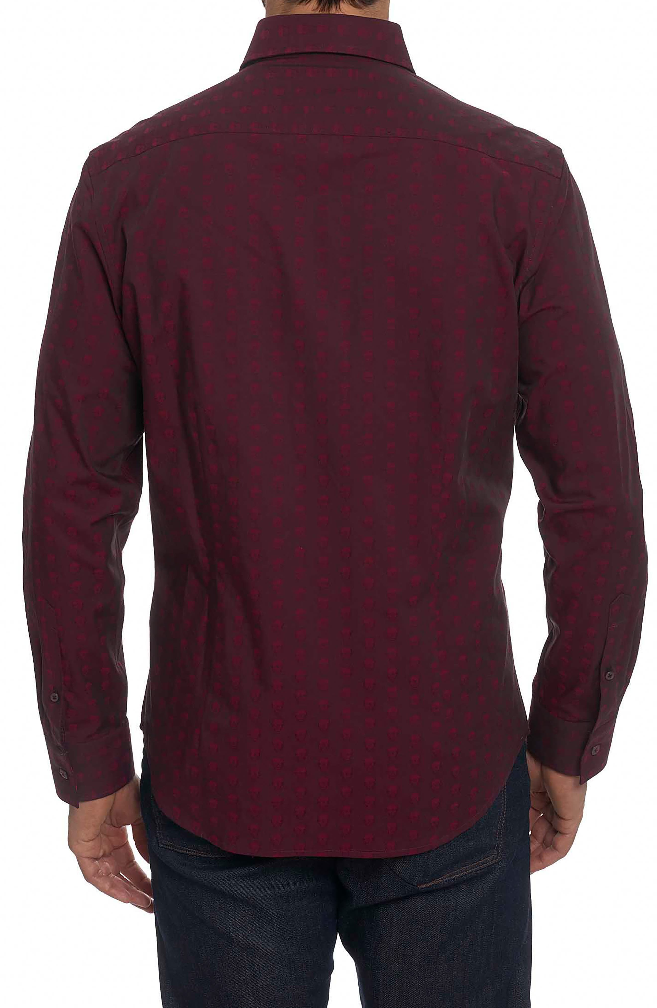 Deven Tailored Fit Sport Shirt,                             Alternate thumbnail 2, color,                             Red