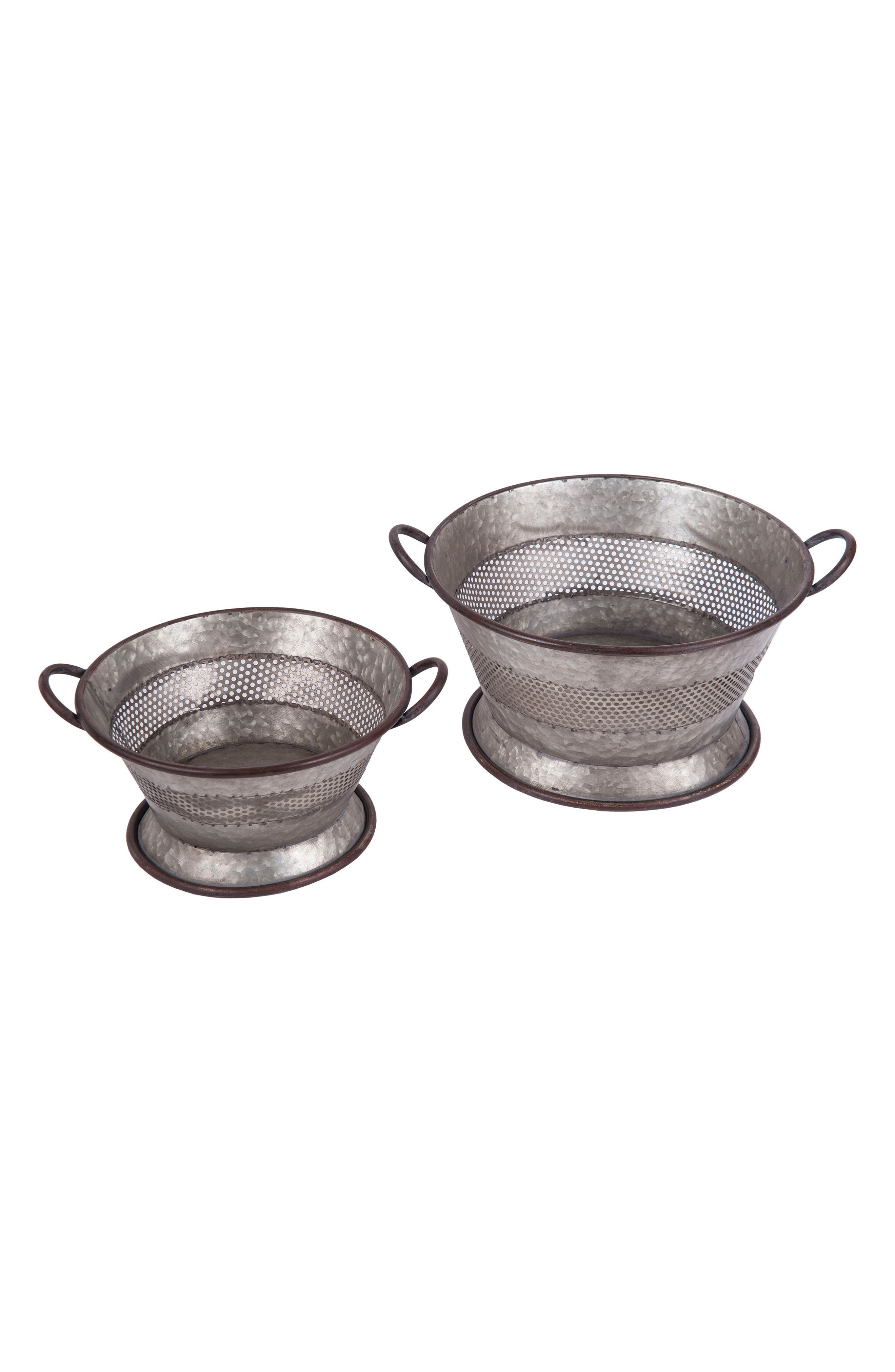 Set of 2 Decorative Strainer Baskets,                             Main thumbnail 1, color,                             Metal