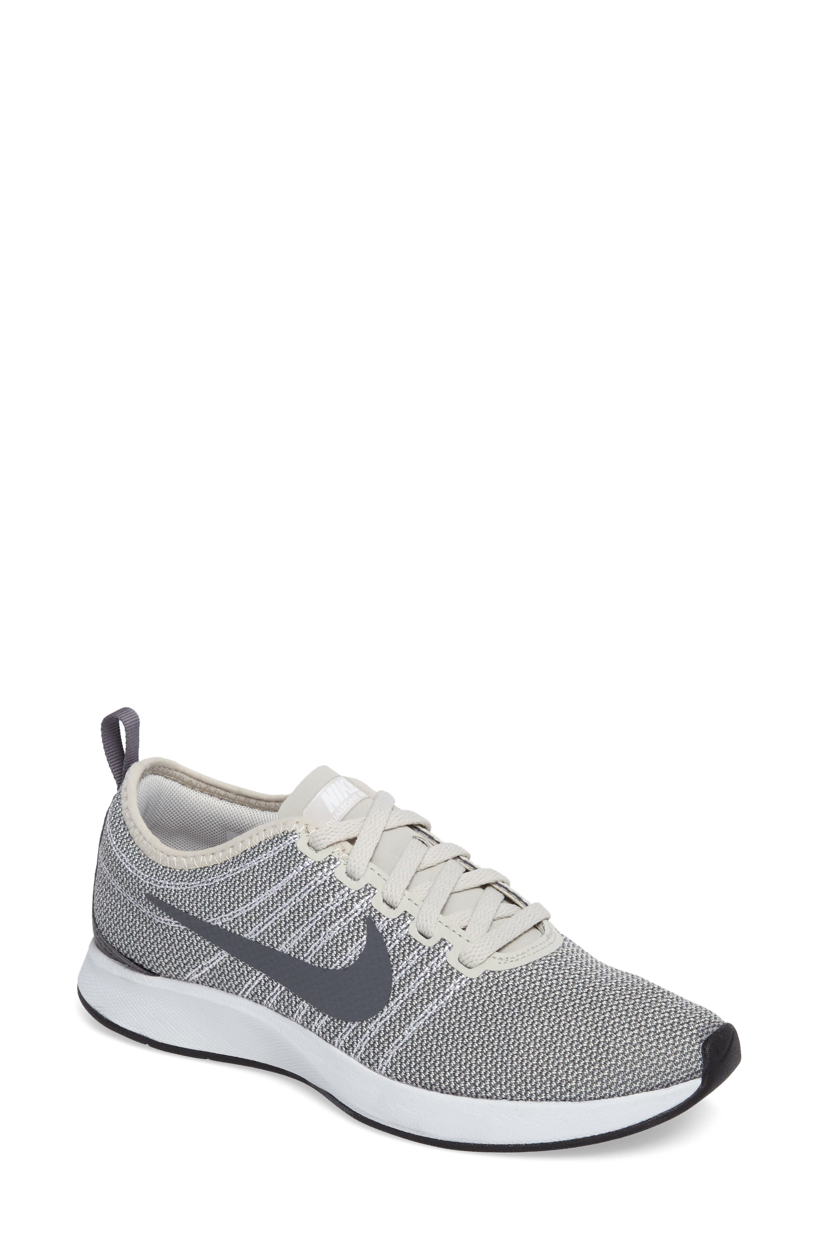 Dualtone Racer Running Shoe,                             Main thumbnail 1, color,                             Light Bone/ White/ Dark Grey