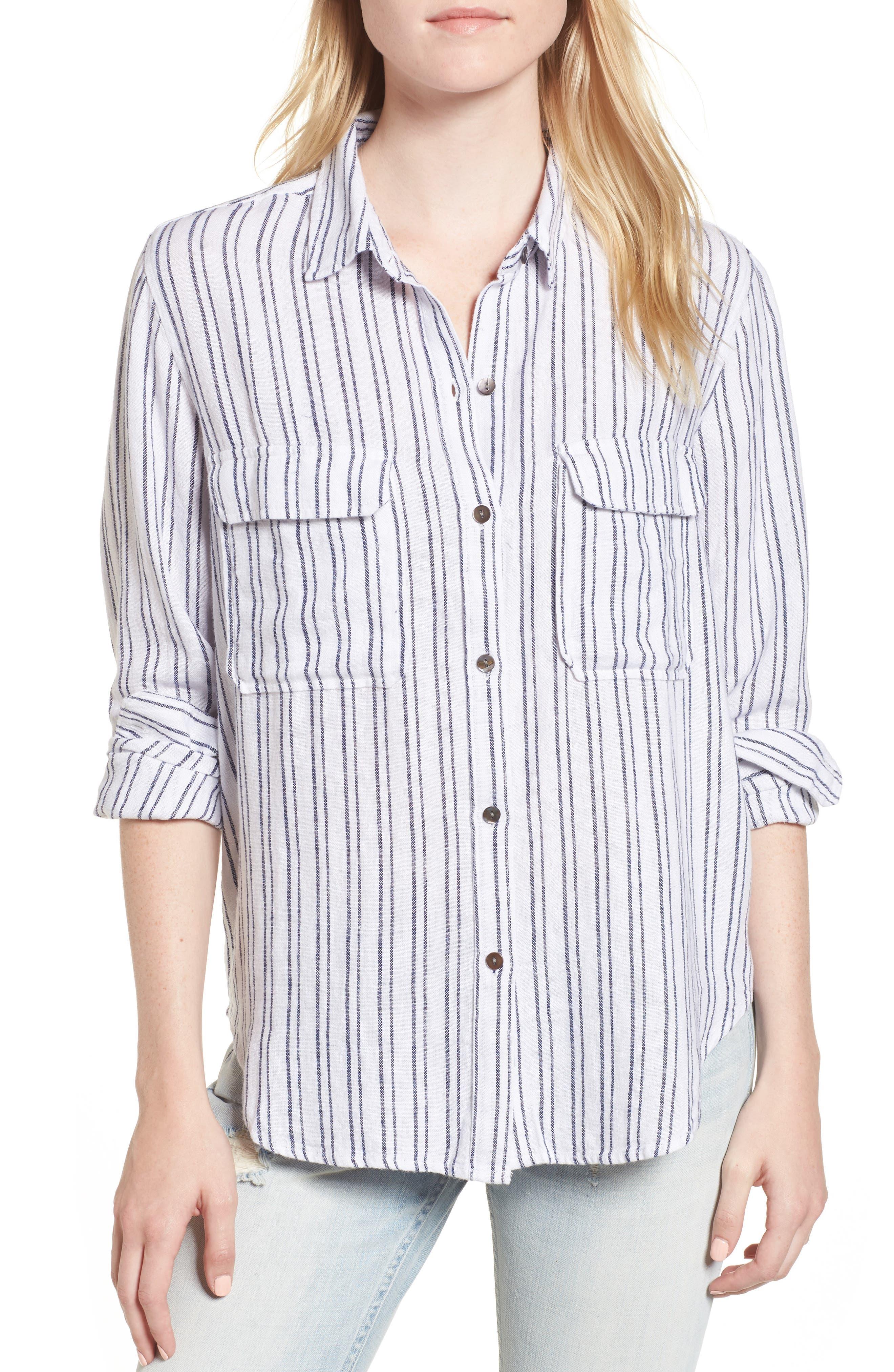 Jimi Stripe Shirt,                         Main,                         color, Melrose Stripe