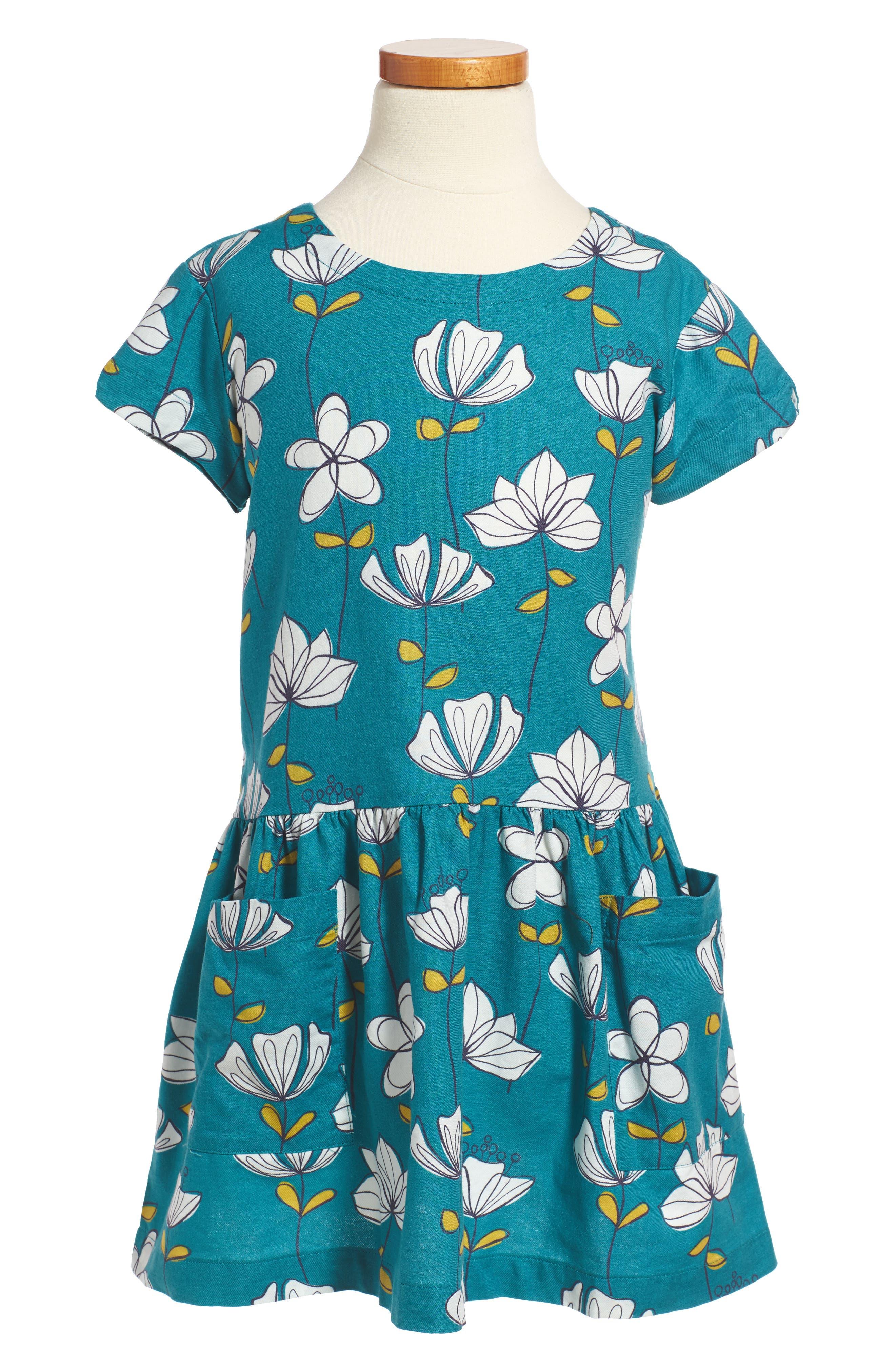Alternate Image 1 Selected - Tea Collection Brianna Pocket Dress (Toddler Girls, Little Girls & Big Girls)