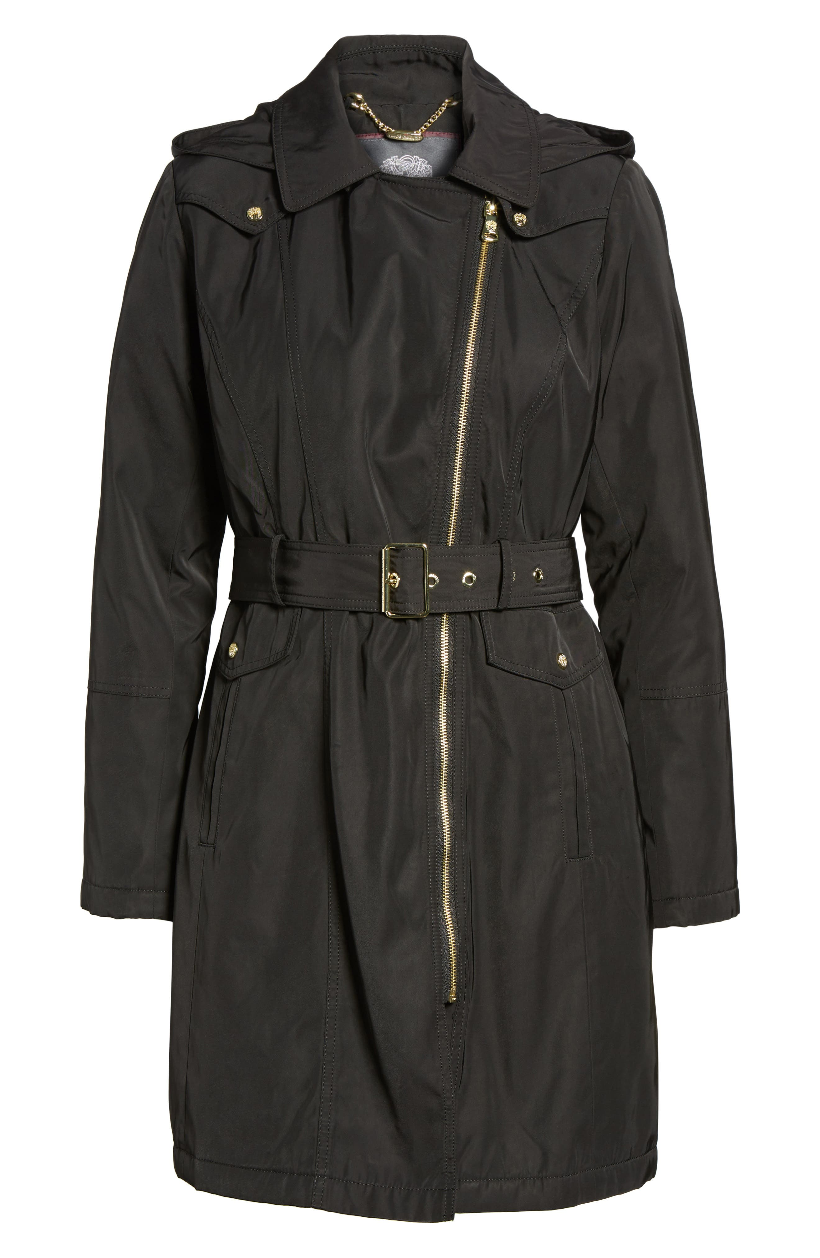 Alternate Image 6  - Vince Camuto Belted Raincoat