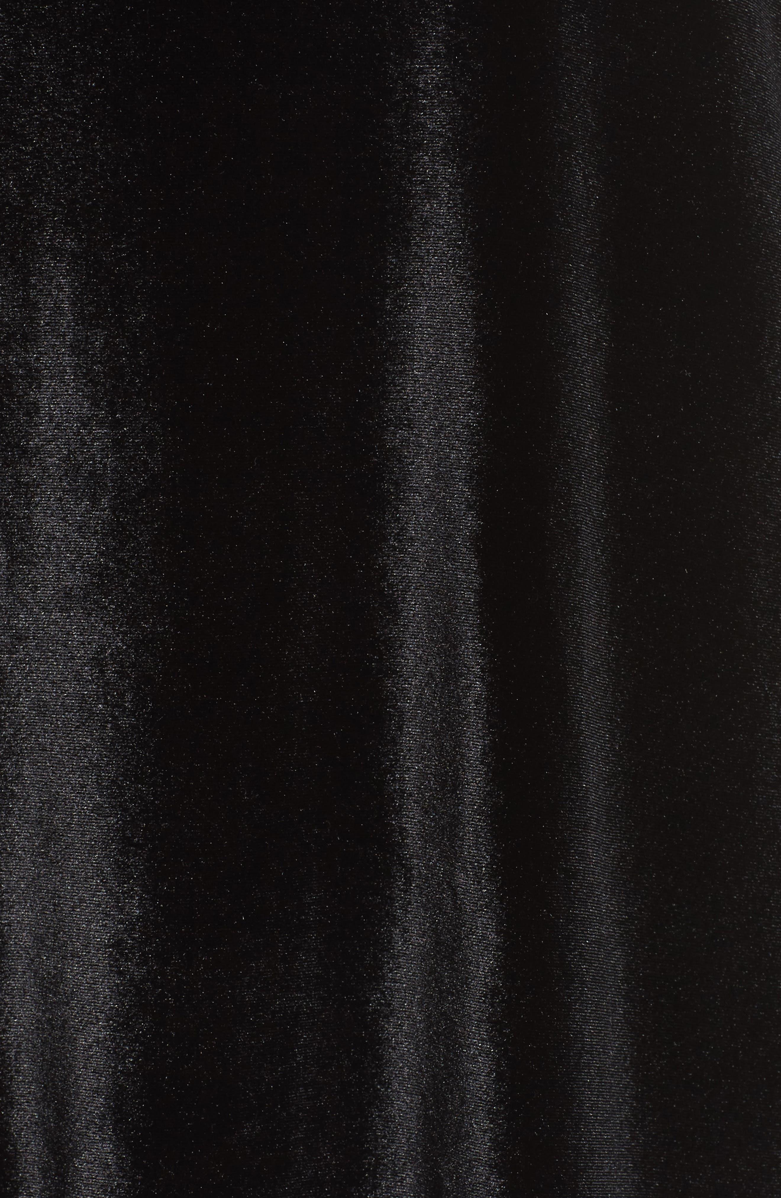 Cassidy Mixed Media Tunic,                             Alternate thumbnail 5, color,                             Black