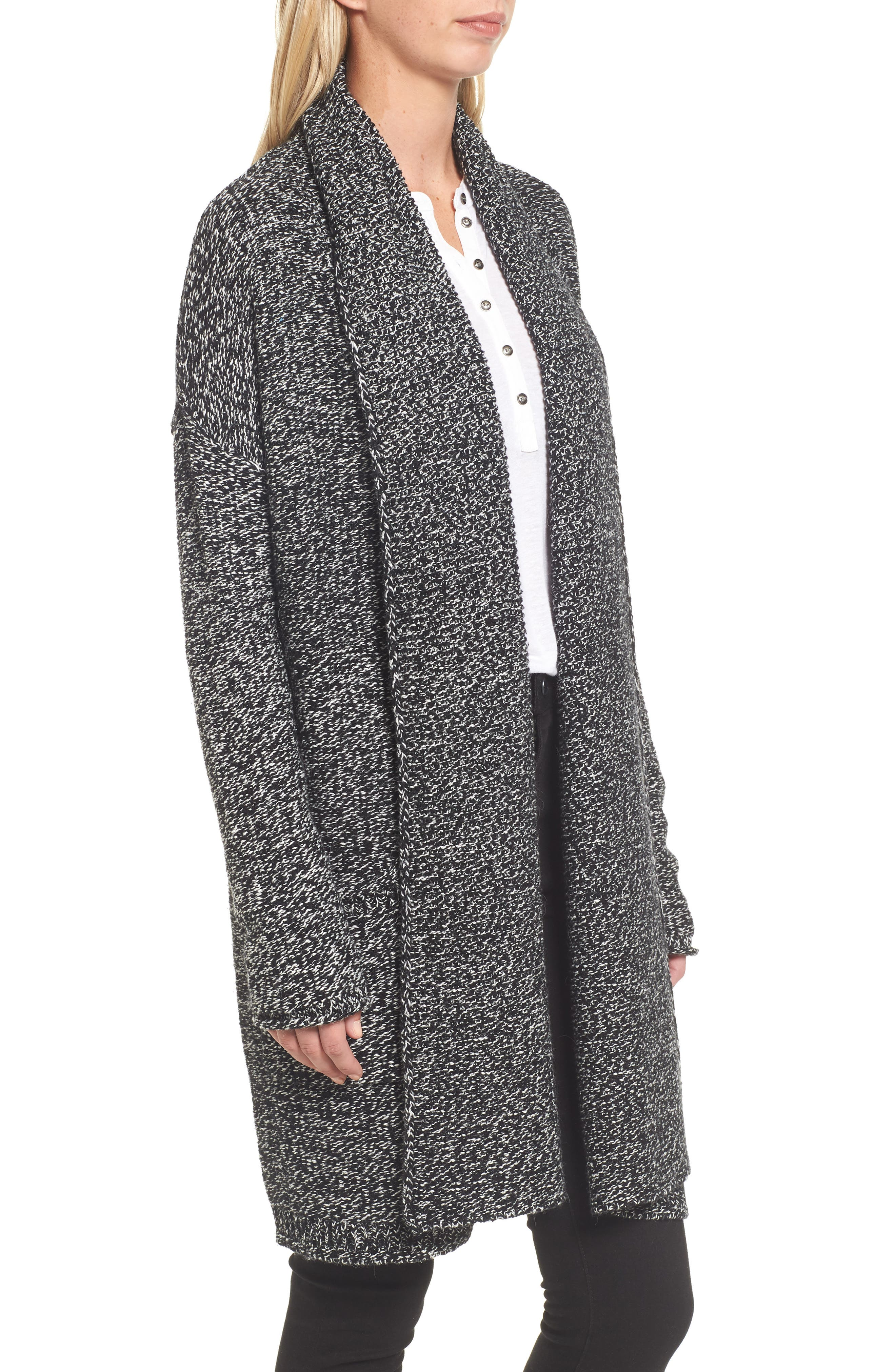 Alternate Image 3  - Caslon® Shawl Collar Cardigan (Regular & Petite)