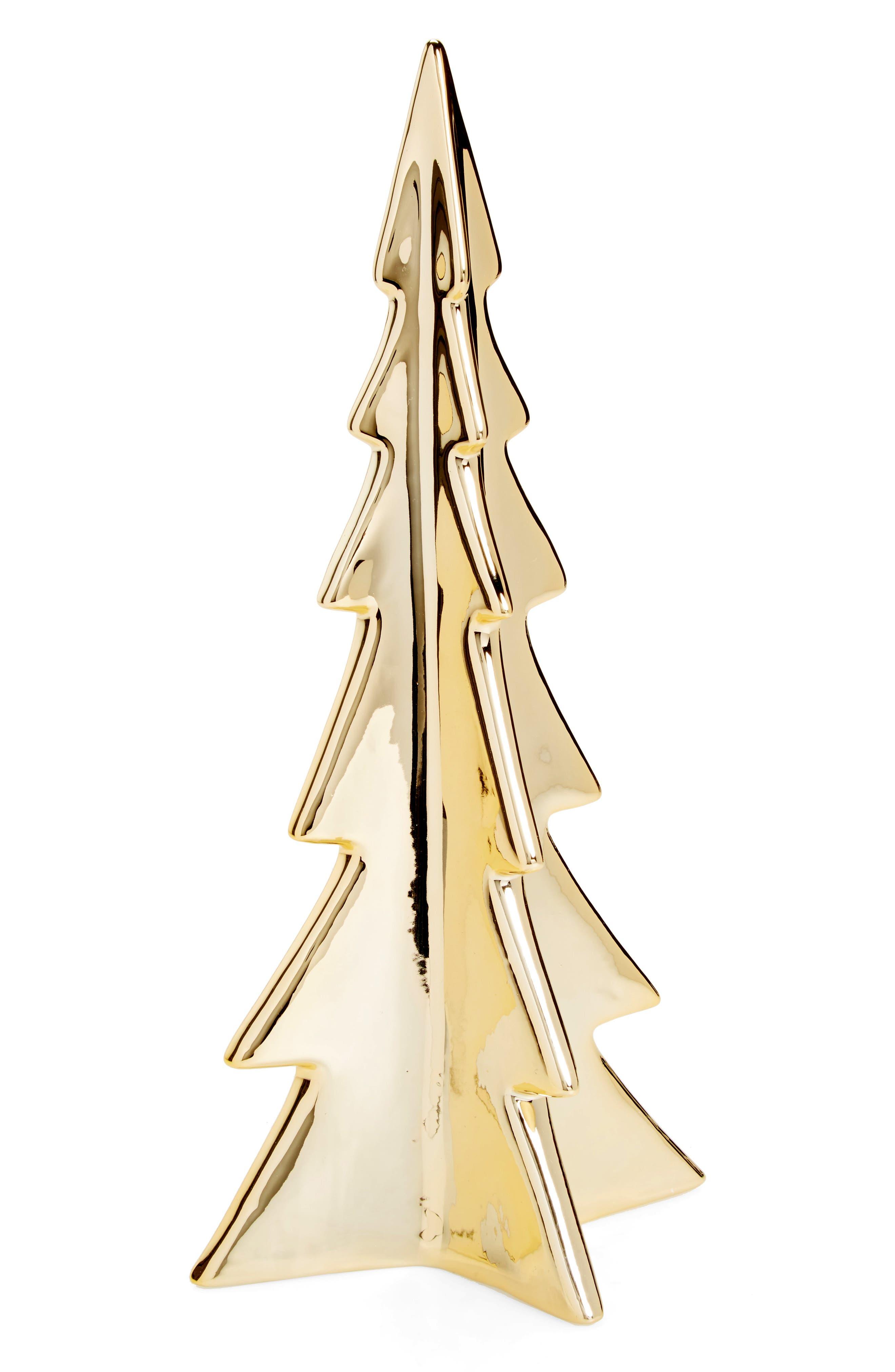 Gold Porcelain Tree,                         Main,                         color, Gold