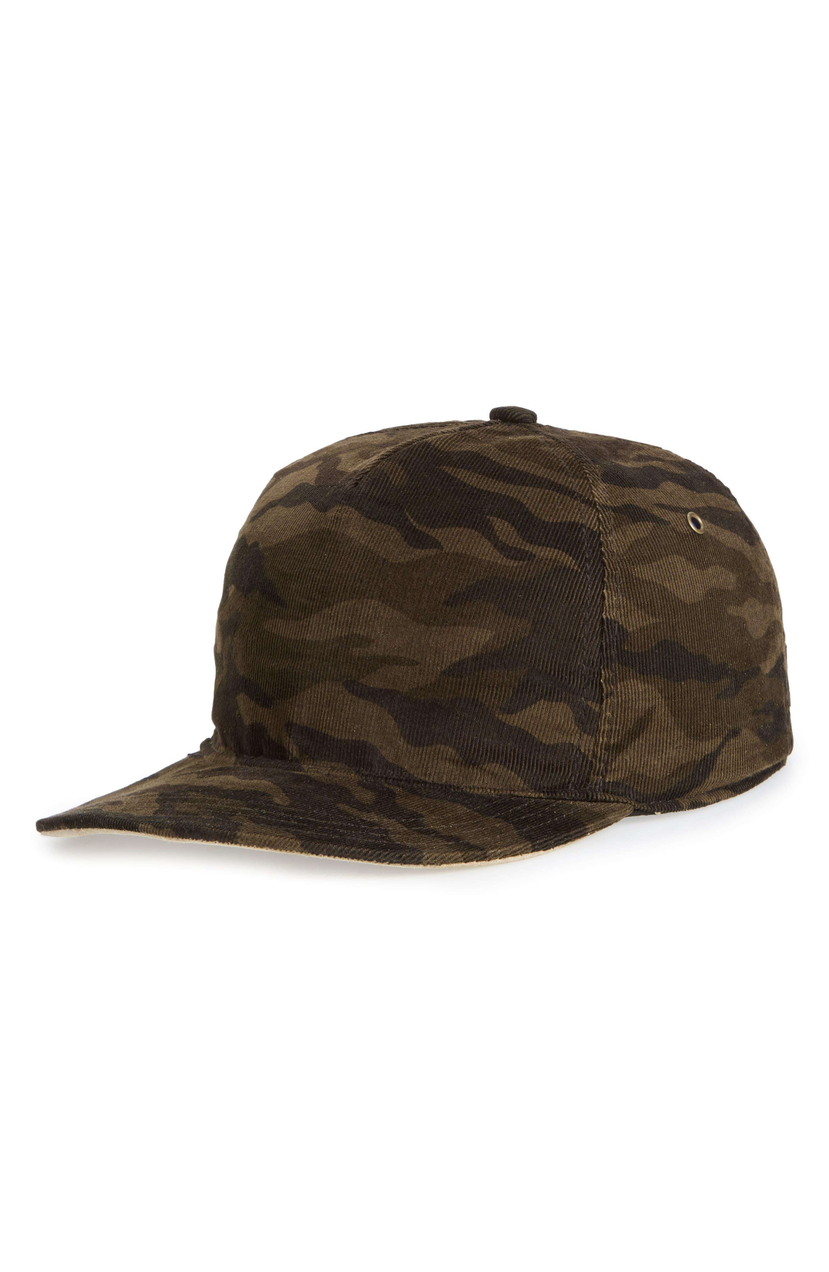 The Hunt Camo Corduroy Ball Cap,                         Main,                         color, Camo