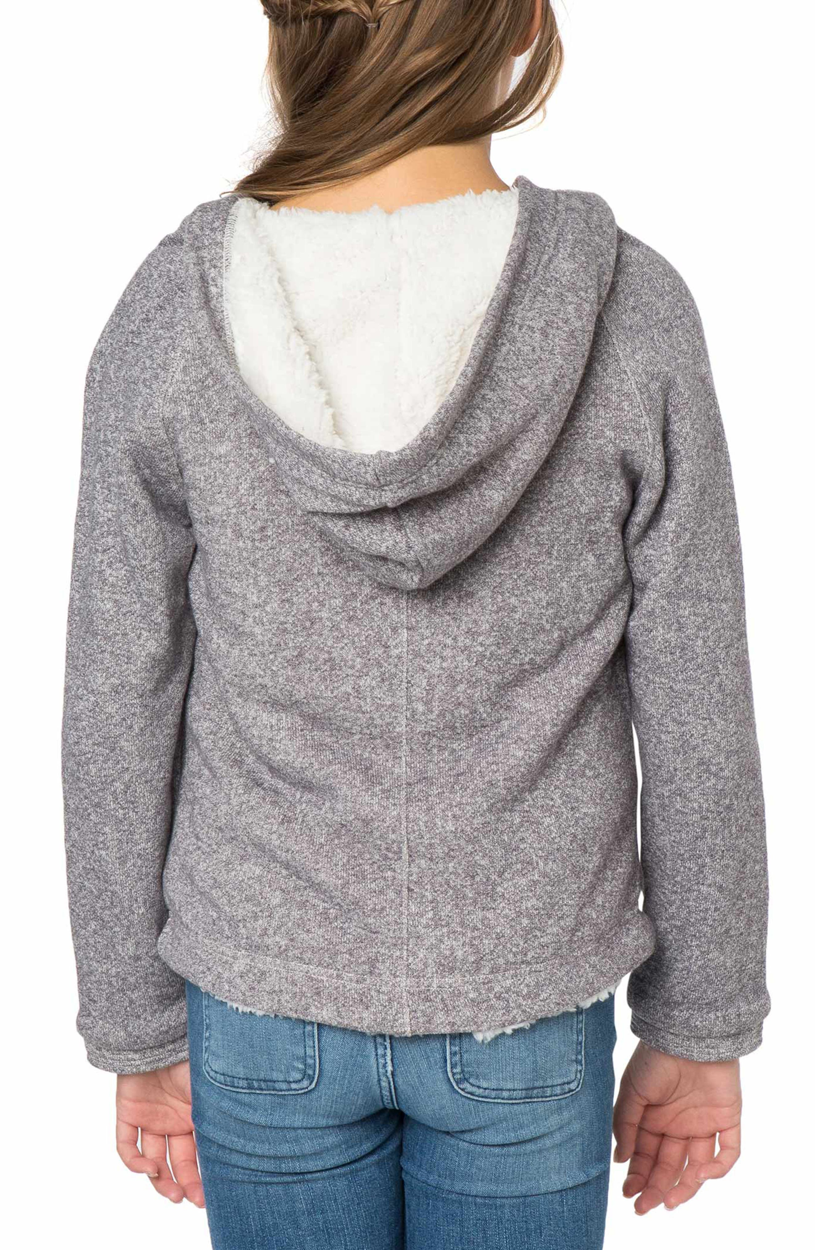 Alternate Image 2  - O'Neill Lorie Faux Fur Lined Hoodie (Big Girls)