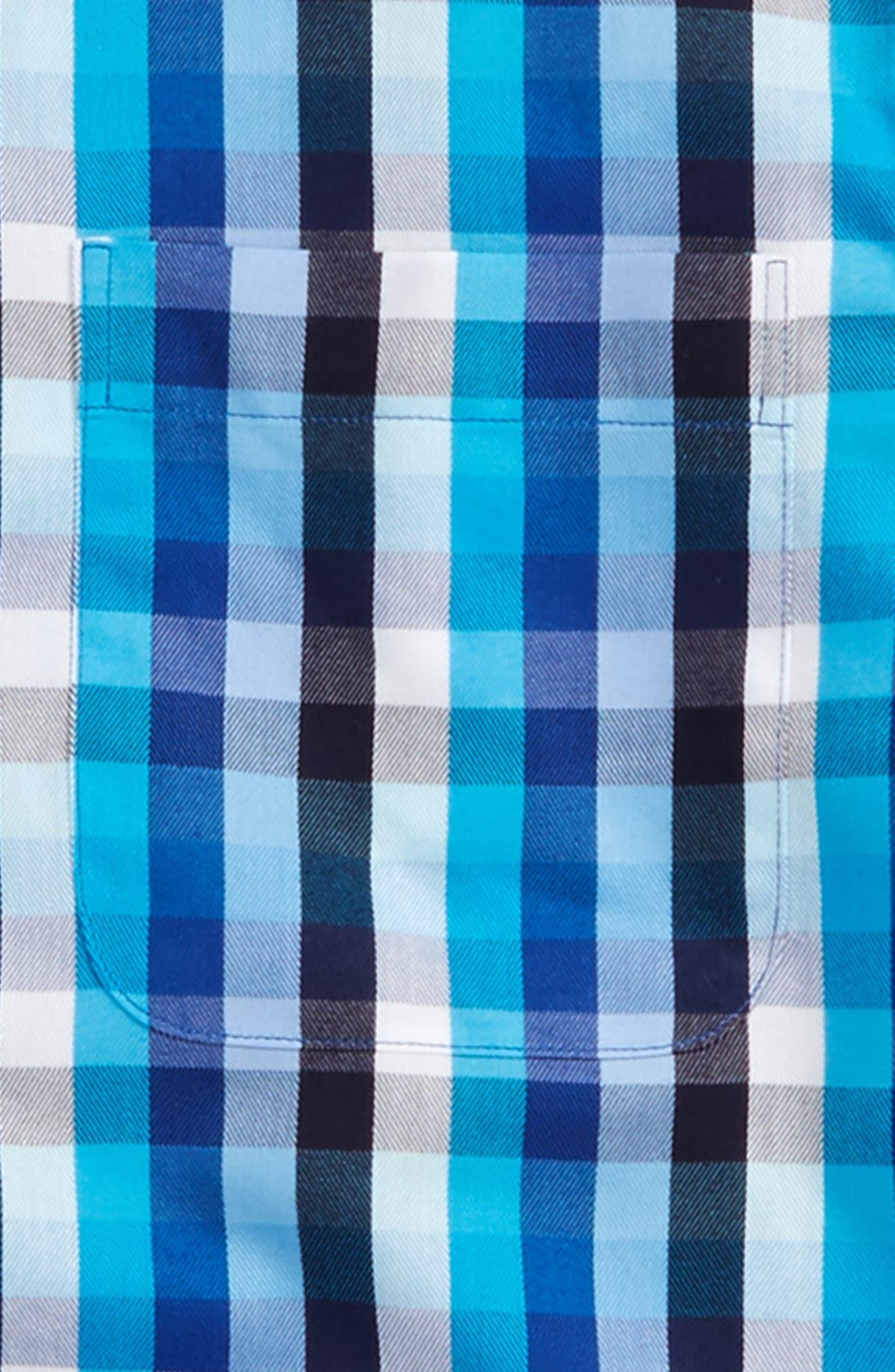 Alternate Image 2  - Nordstrom Smartcare™ Danube Plaid Dress Shirt (Big Boys)