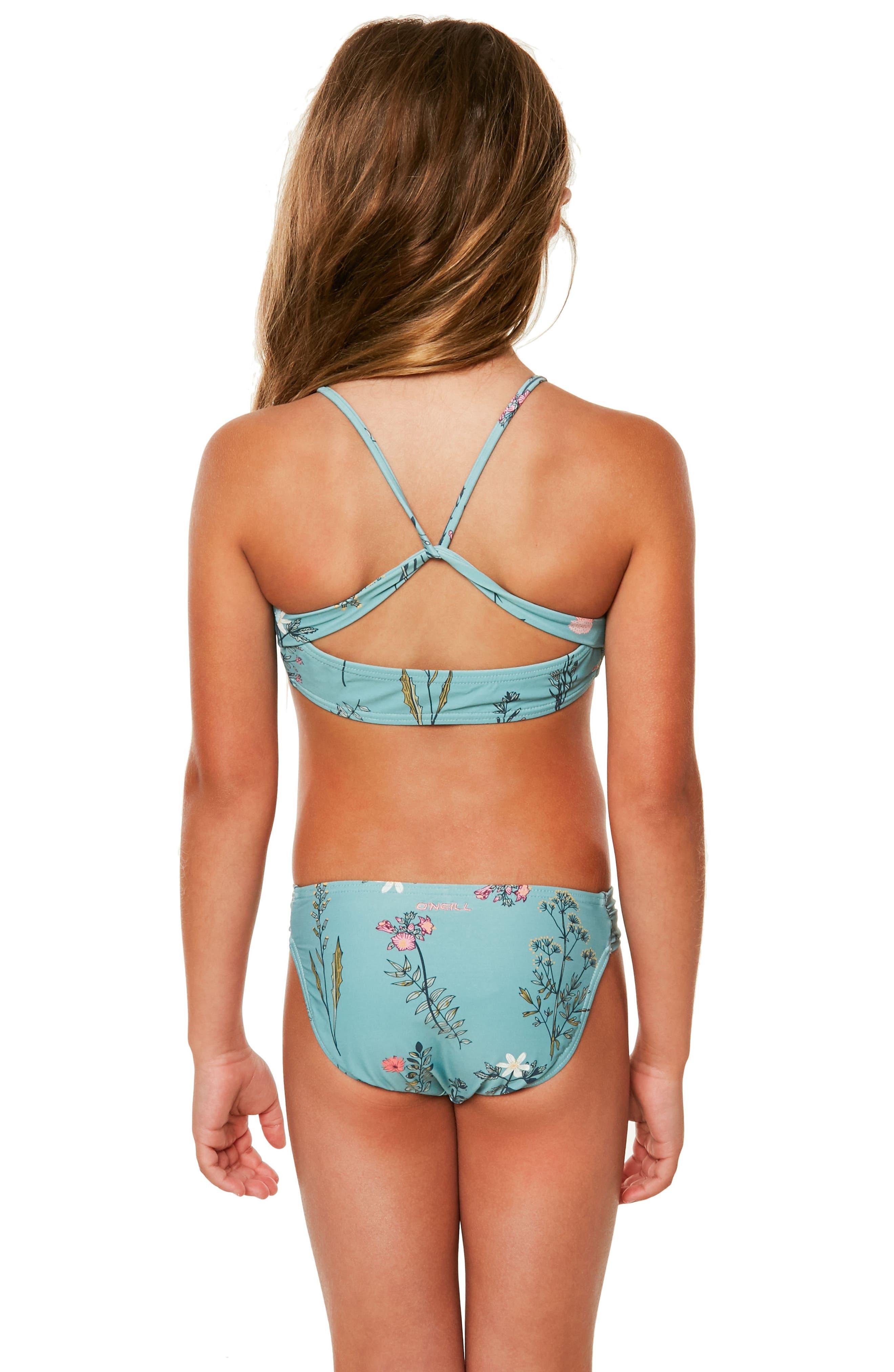 Piper Two-Piece Swimsuit,                             Alternate thumbnail 4, color,                             Aqua Haze