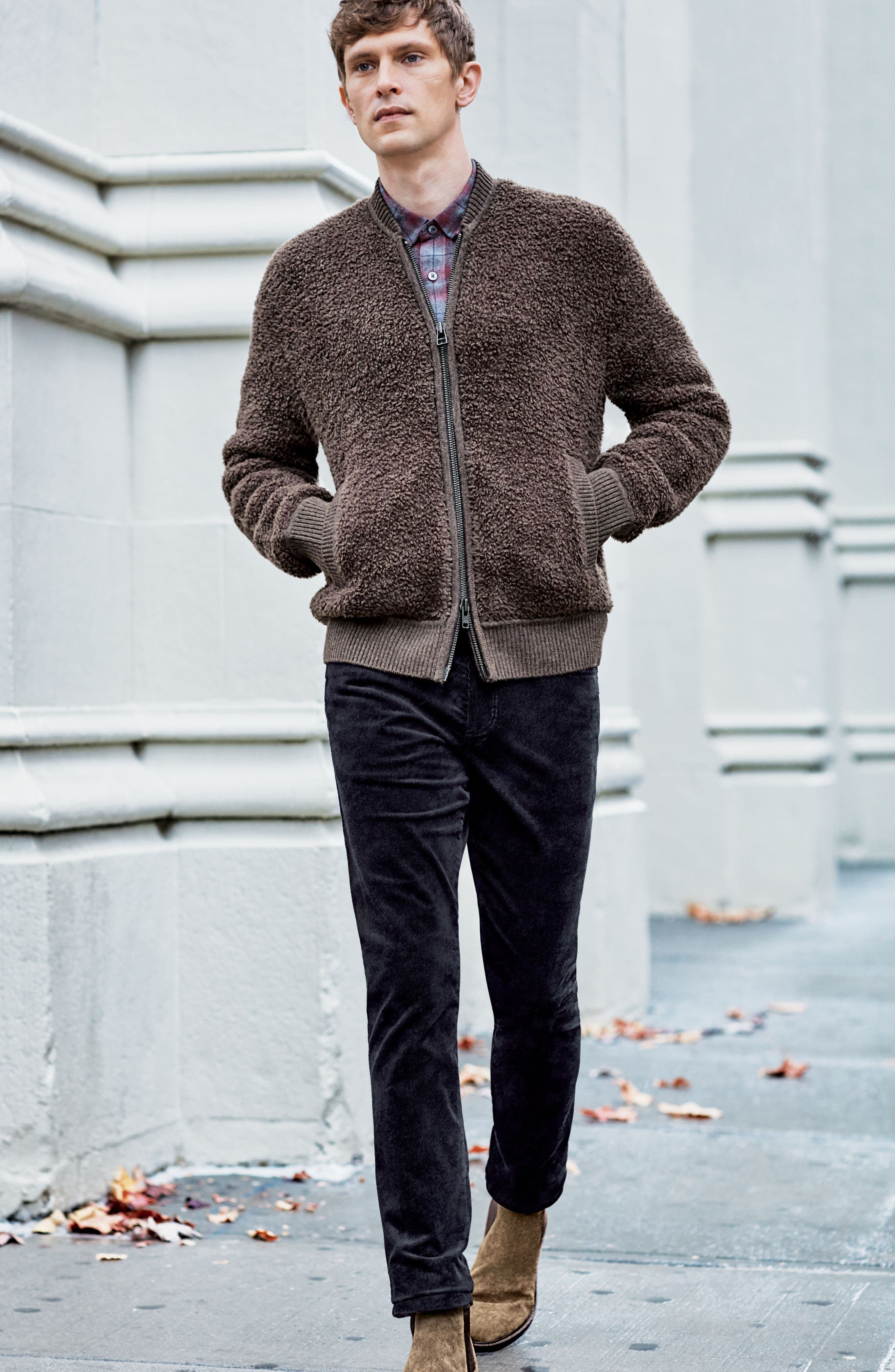Alternate Image 8  - Vince Fleece Wool Blend Bomber Jacket