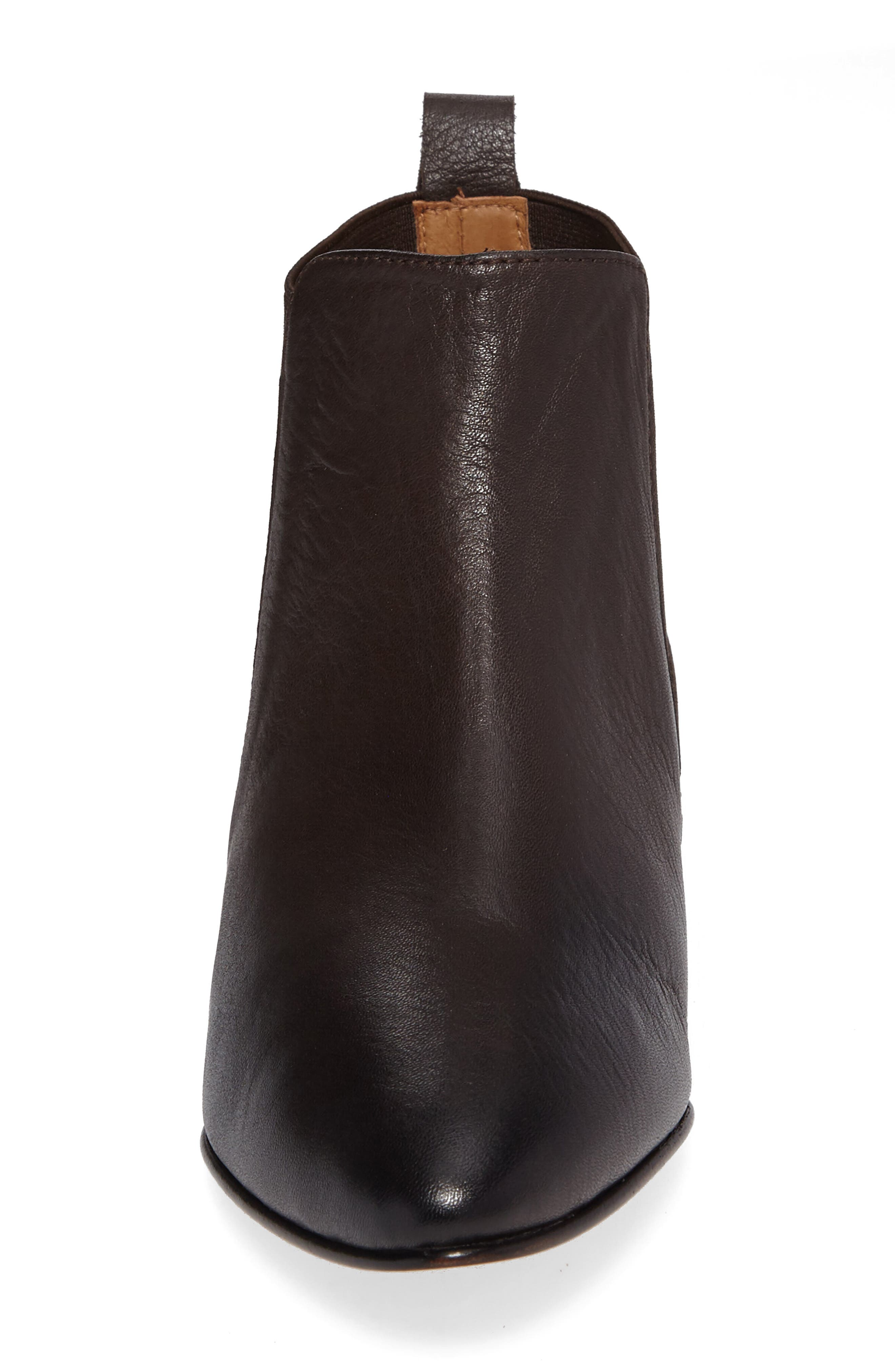 Newbury Bootie,                             Alternate thumbnail 4, color,                             Chocolate Leather