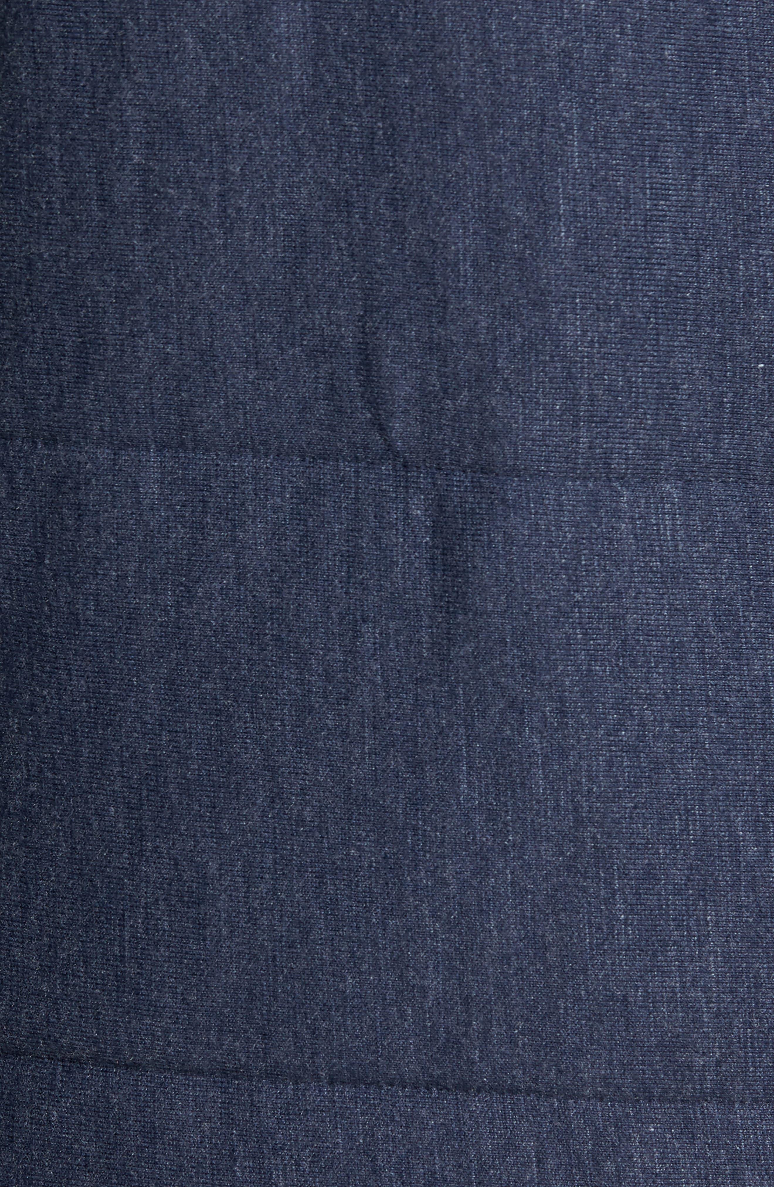 Quilted Fleece Vest,                             Alternate thumbnail 5, color,                             Navy Iris Heather