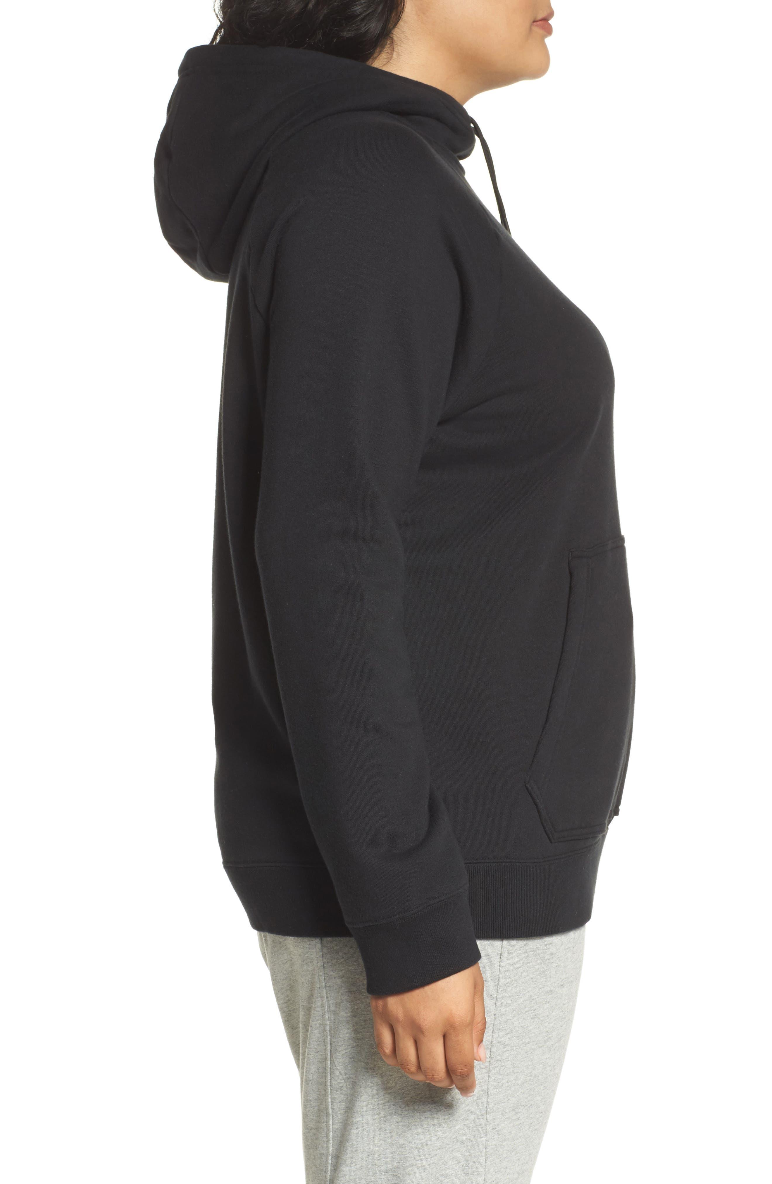Alternate Image 3  - Nike Rally Hoodie (Plus Size)