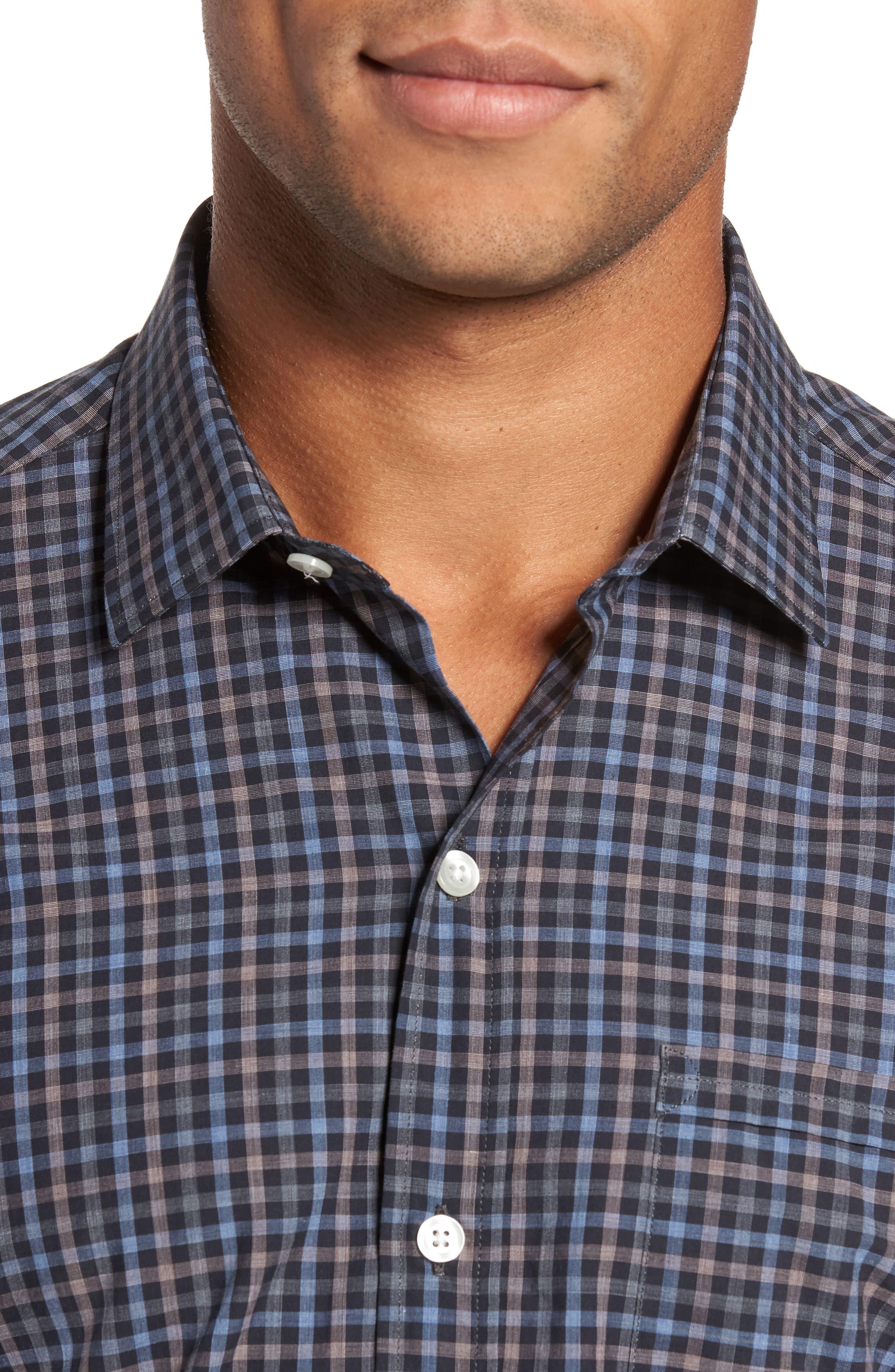 Alternate Image 4  - Culturata Gingham Shadow Sport Shirt