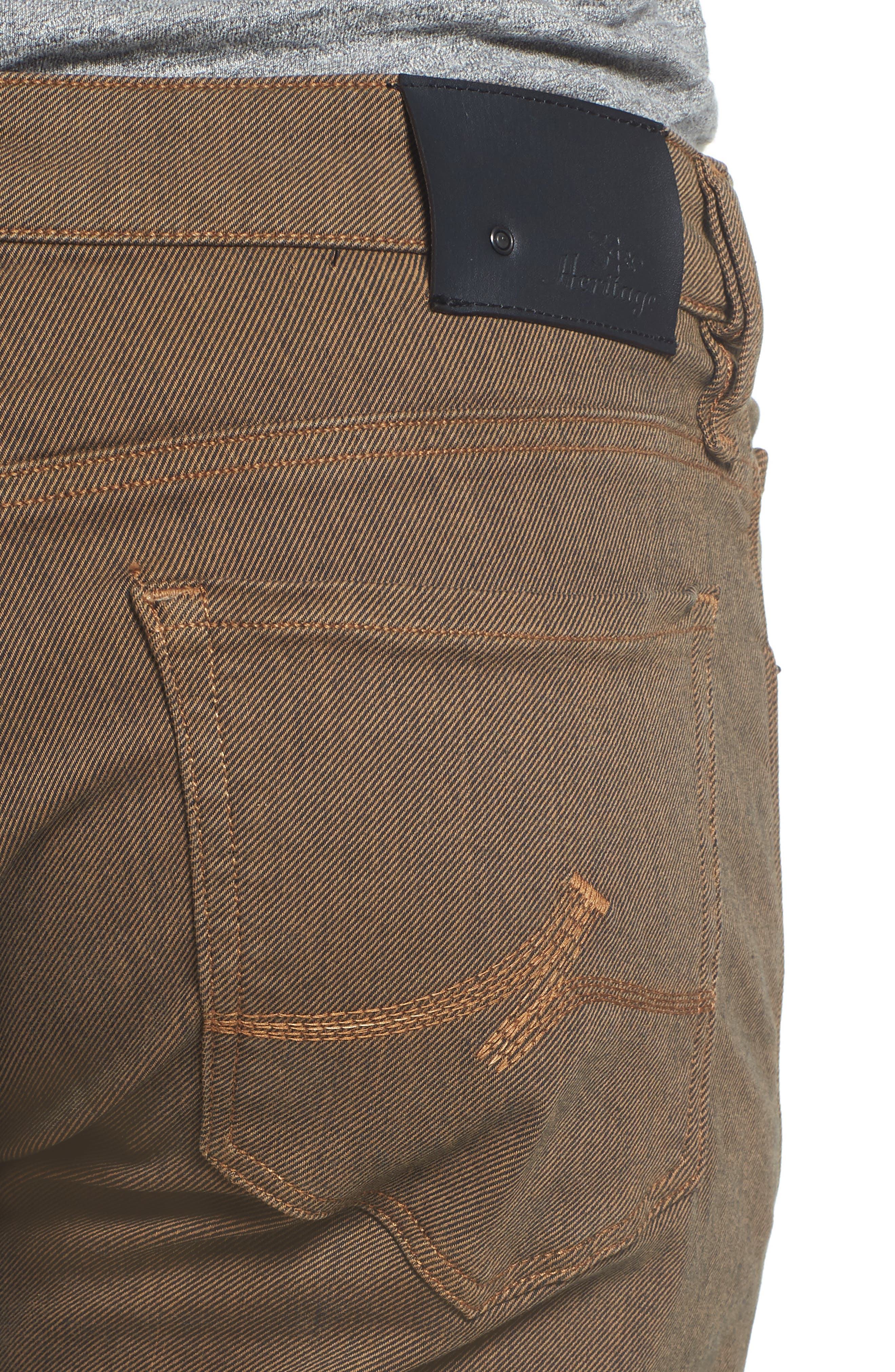 Alternate Image 4  - Heritage 34 Courage Straight Leg Jeans (Rust Diagonal)