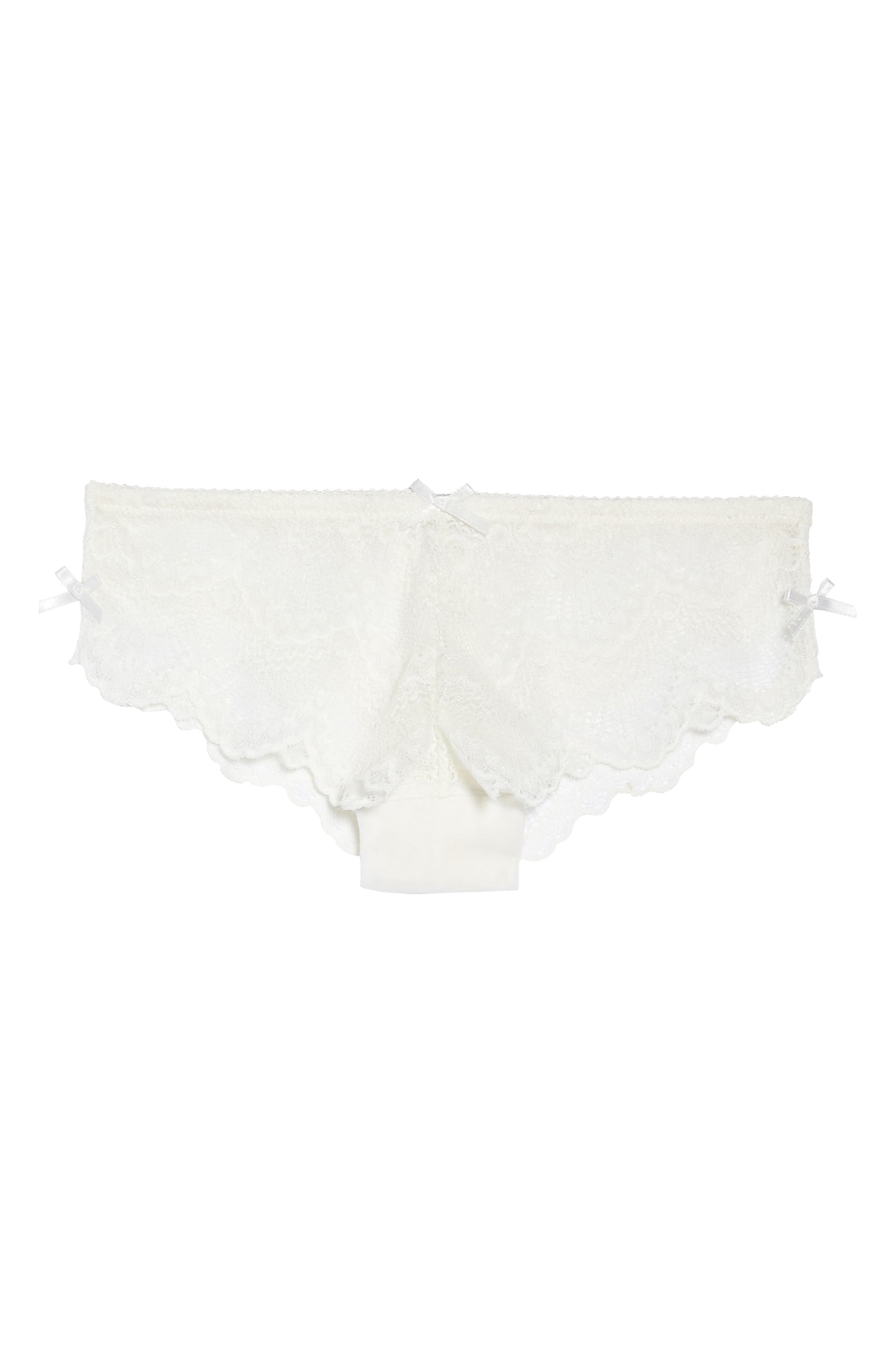 Lace Hipster Briefs,                             Alternate thumbnail 4, color,                             Antique Ivory