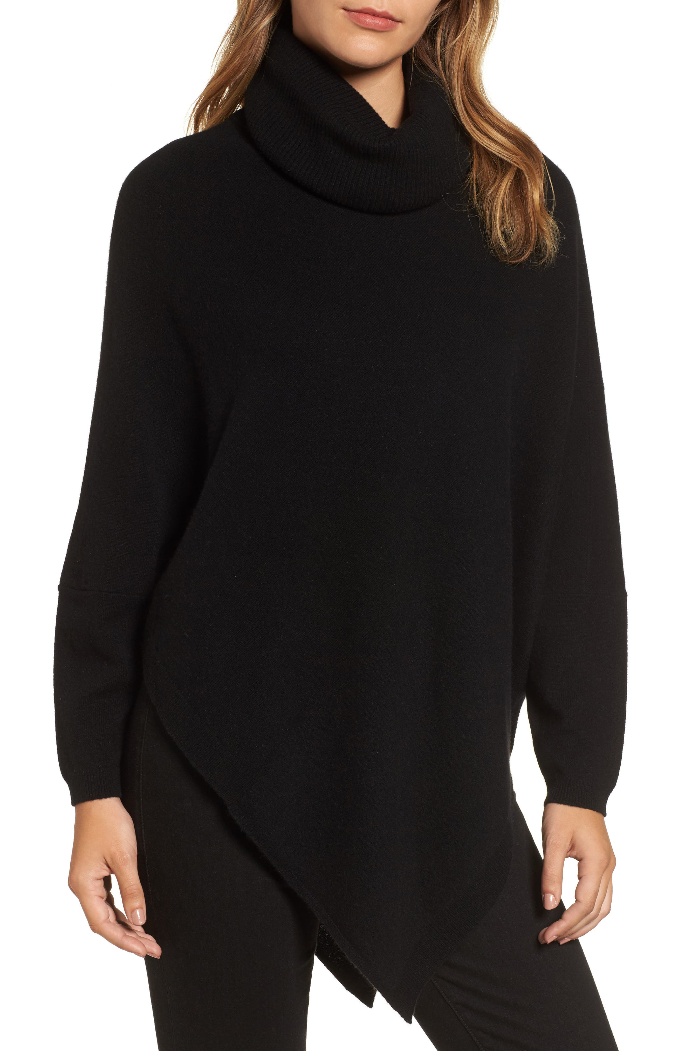 Halogen® Wool and Cashmere Poncho (Regular & Petite)