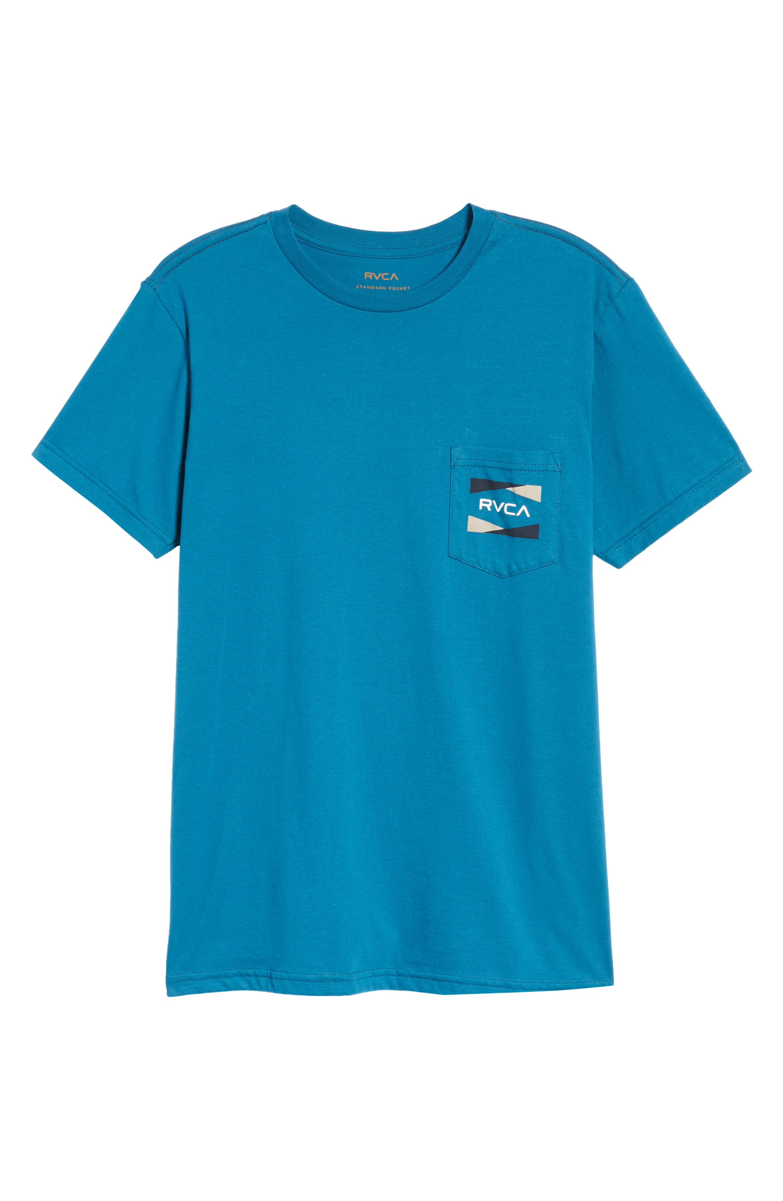 Nation 2 Graphic Pocket T-Shirt,                             Alternate thumbnail 6, color,                             Blue Tide