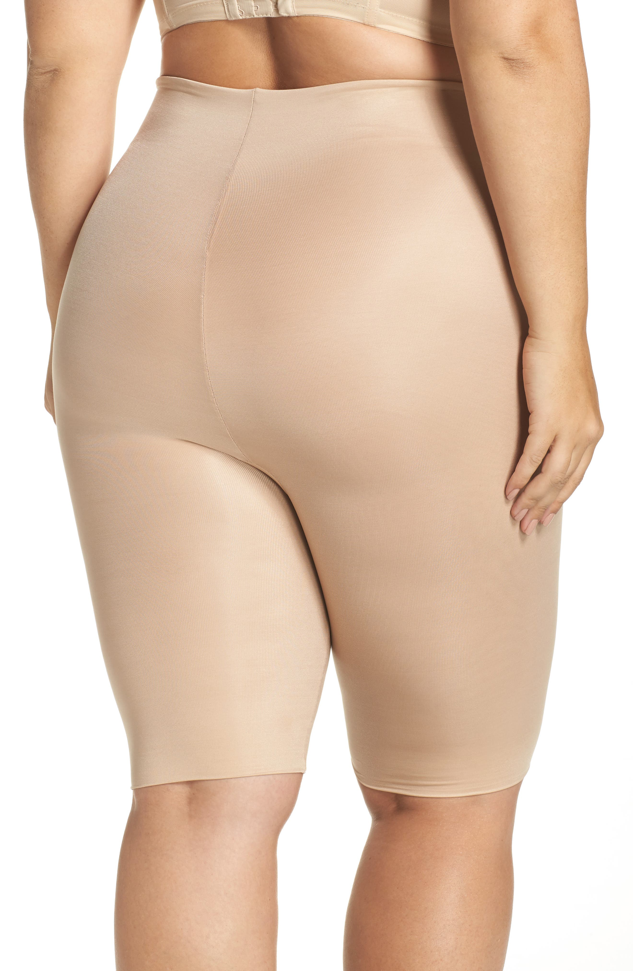 Alternate Image 2  - SPANX® Power Conceal-Her Mid-Thigh Shorts (Plus Size)