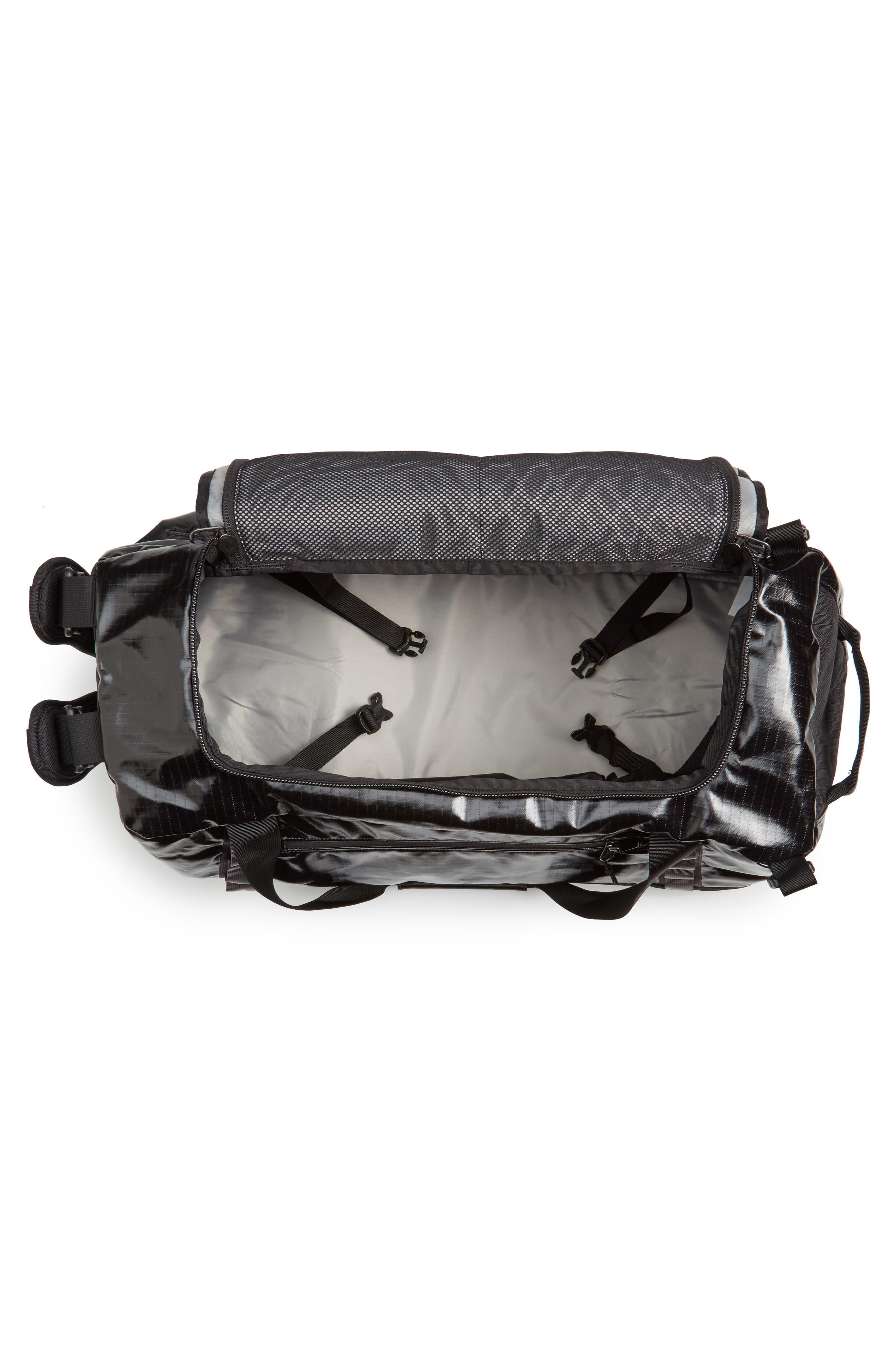 Black Hole Water Repellent Duffel Bag,                             Alternate thumbnail 4, color,                             Black