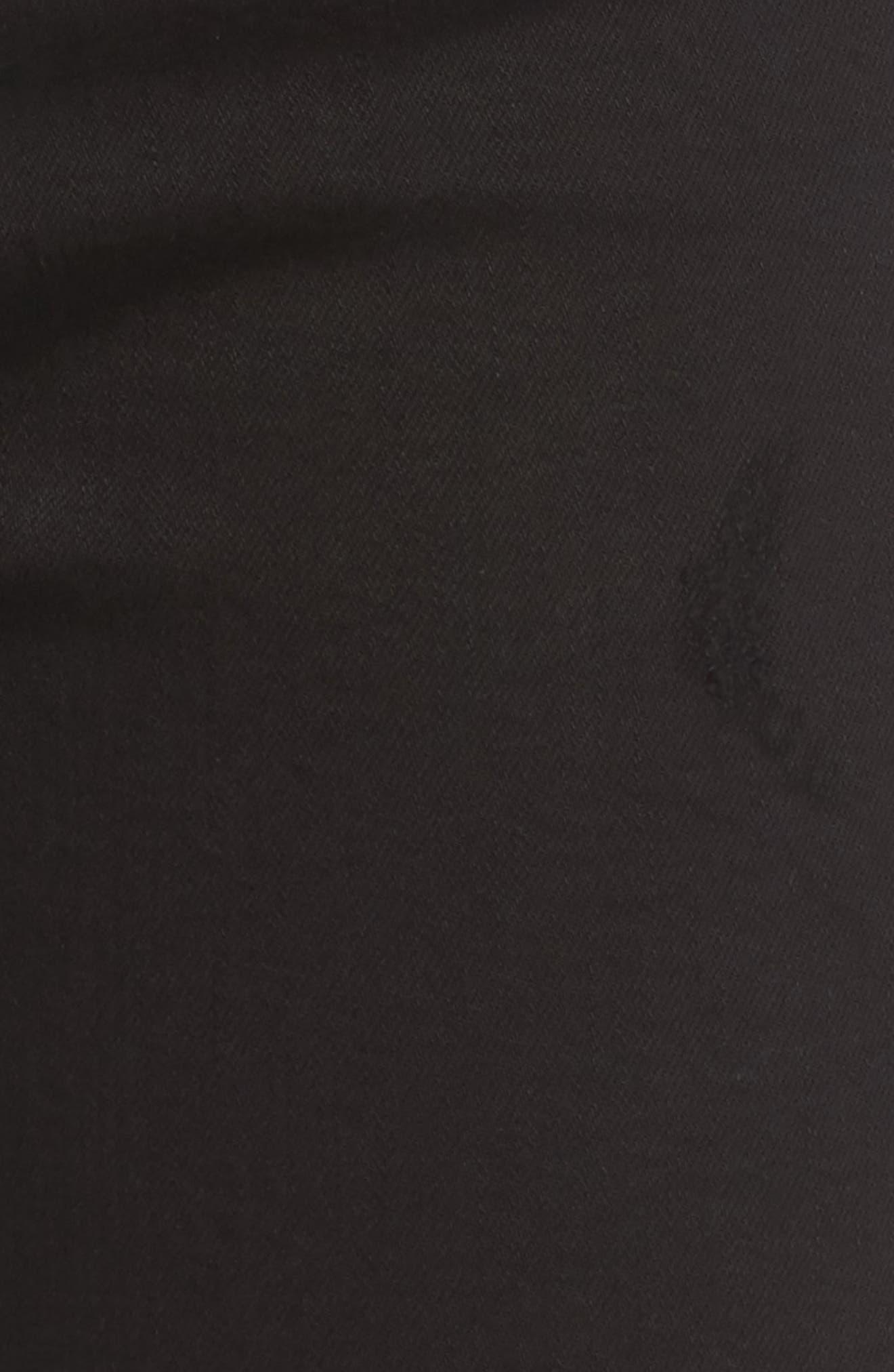 Sophie Crop High Rise Skinny Jeans,                             Alternate thumbnail 5, color,                             Harlow Destruct