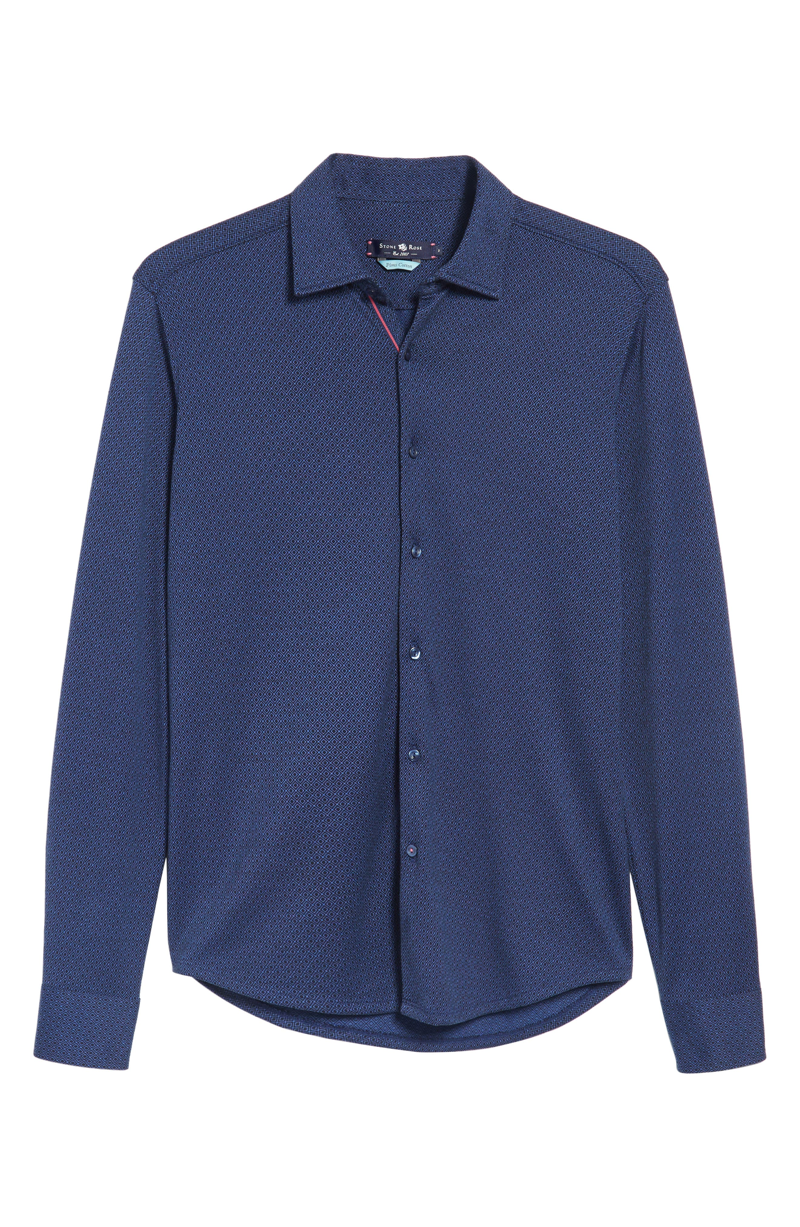 Alternate Image 6  - Stone Rose Slim Fit Dobby Diamond Sport Shirt