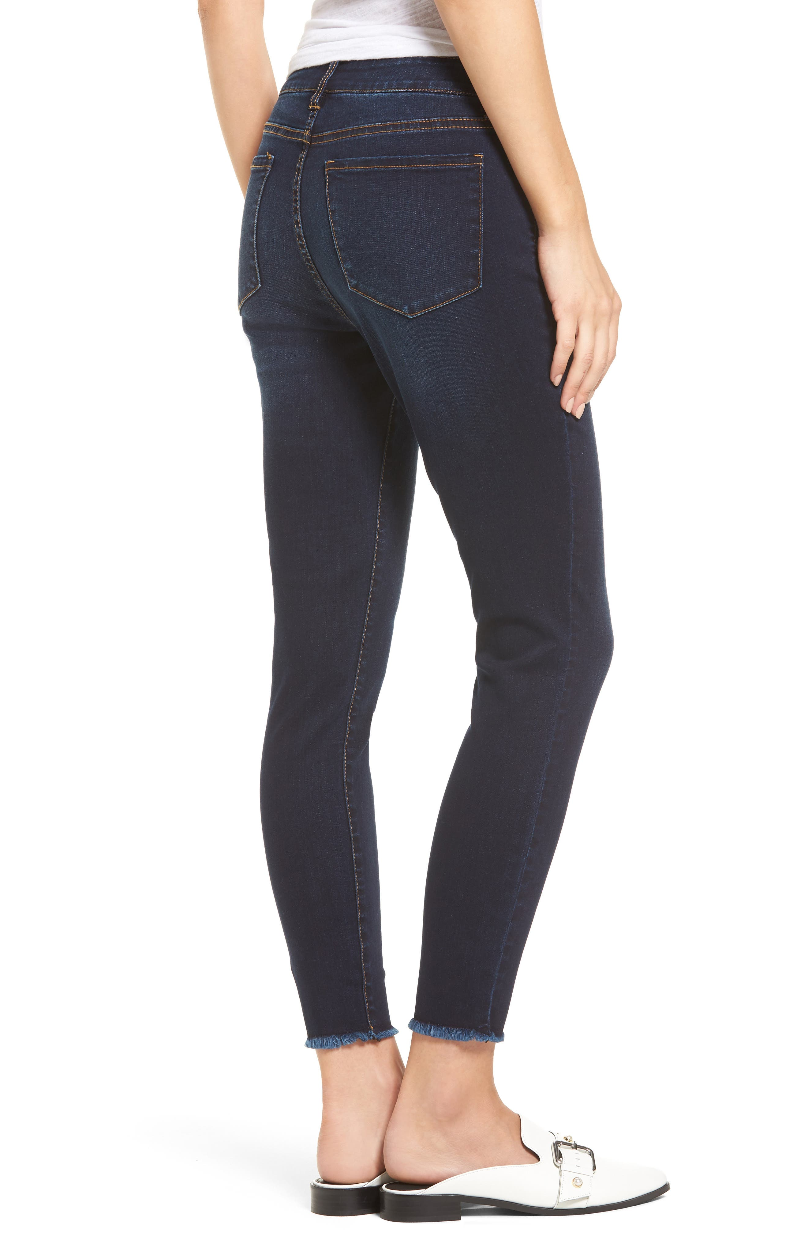 Ankle Skinny Jeans,                             Alternate thumbnail 2, color,                             Dark Wash
