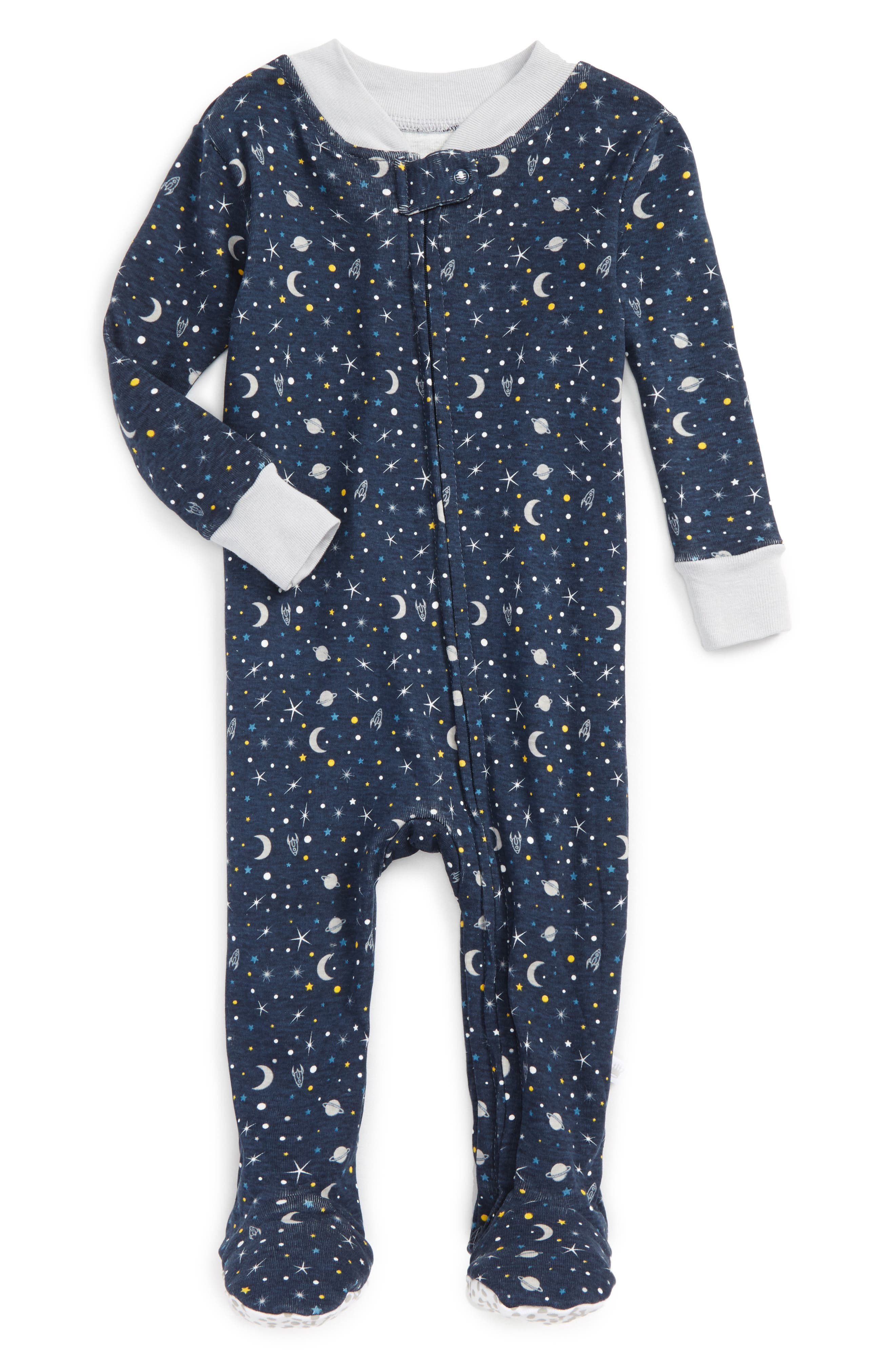 Rosie Pope Galaxy Fitted One-Piece Footed Pajamas (Baby Boys)