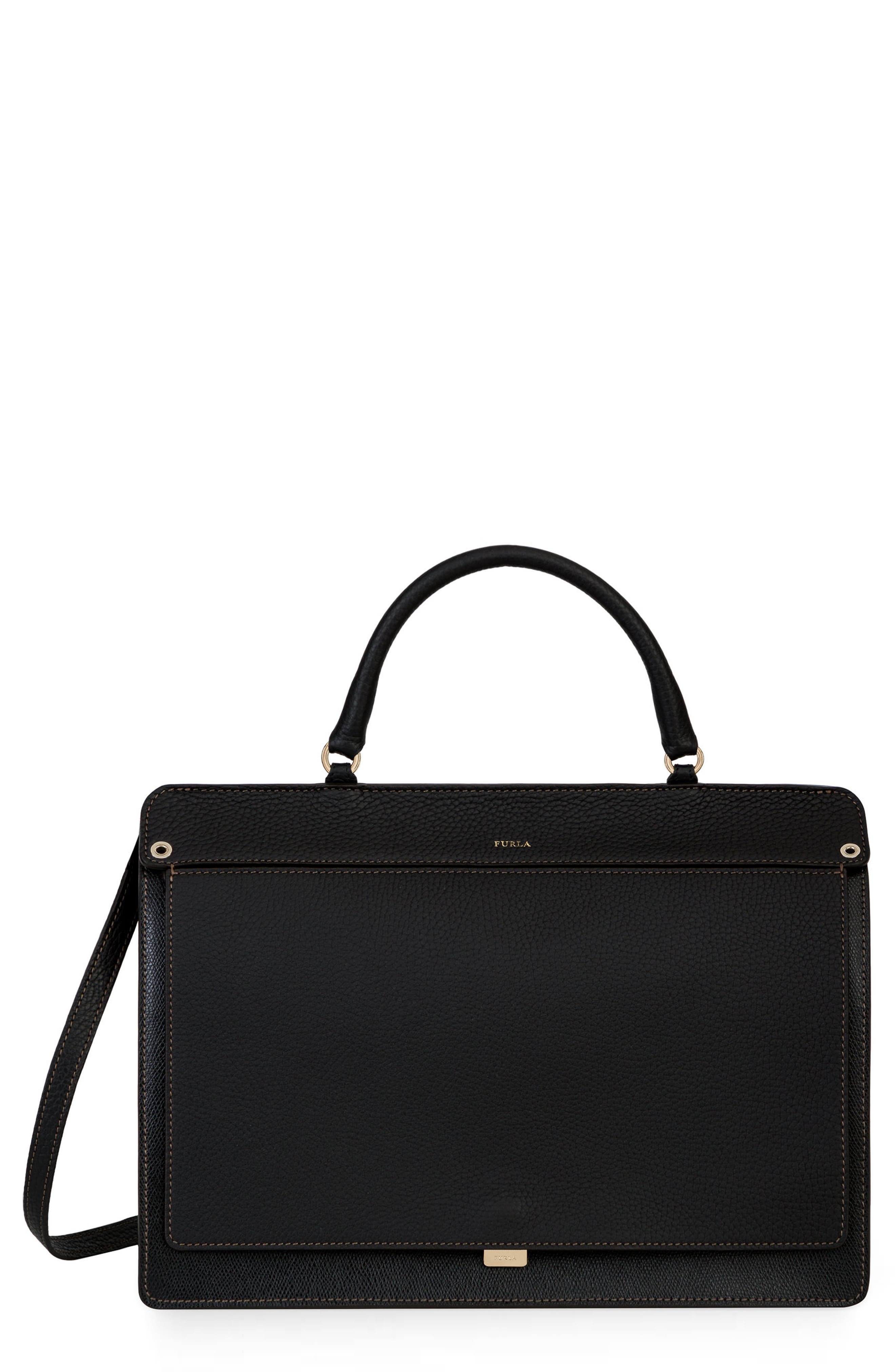 Alternate Image 1 Selected - Furla Like Leather Top Handle Satchel