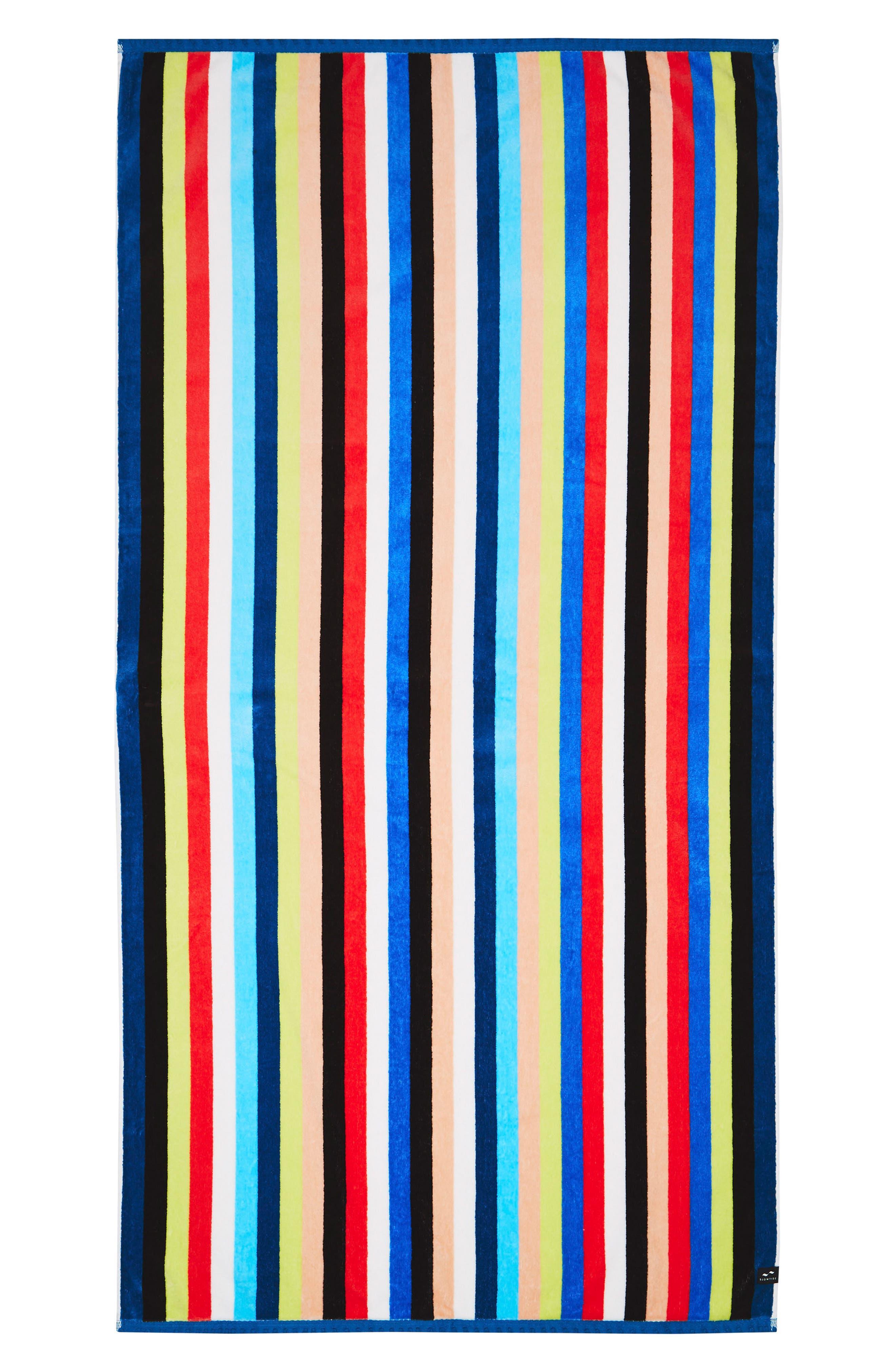 Versa Beach Towel,                             Main thumbnail 1, color,                             Blue Multi