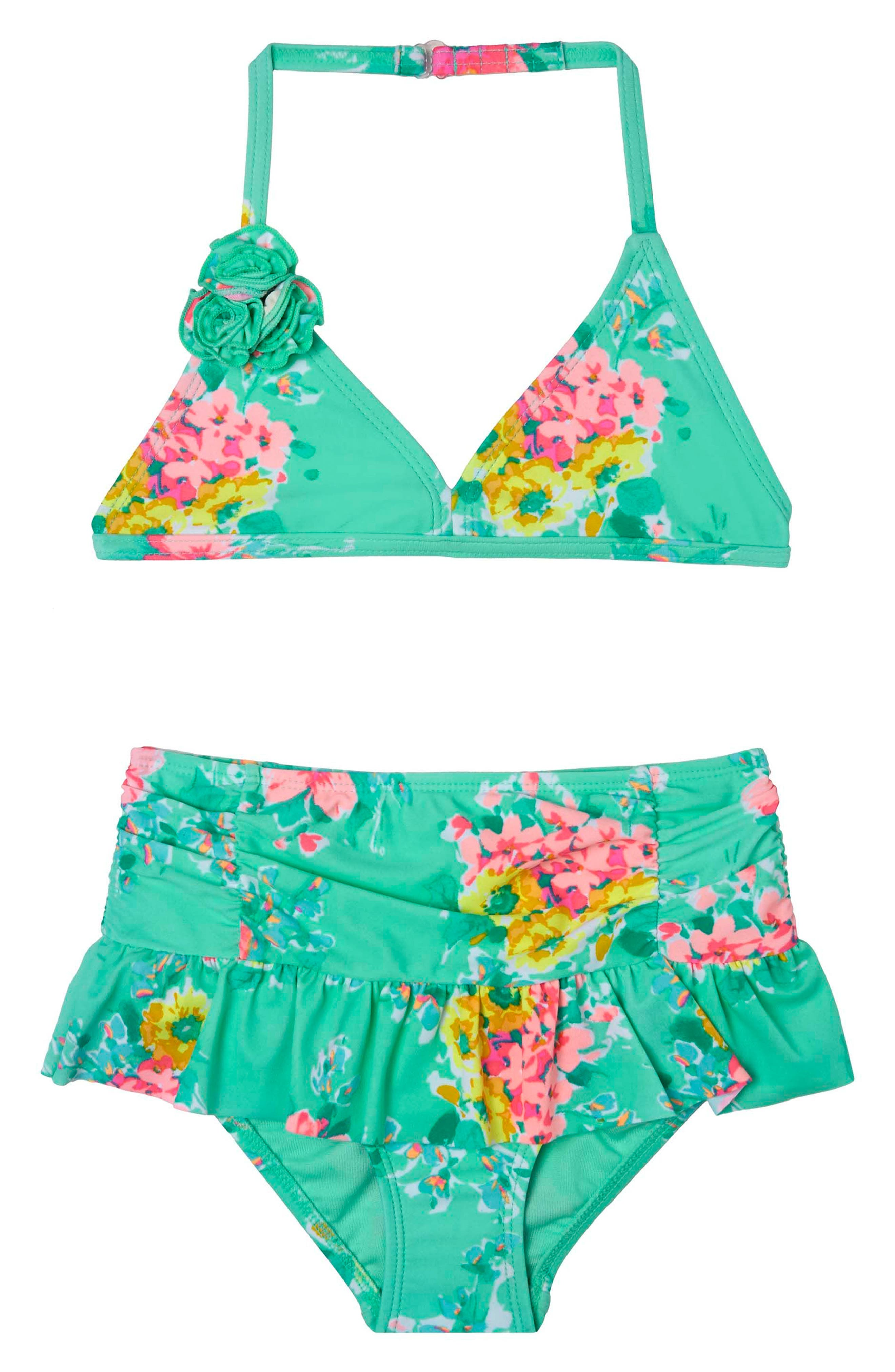 Main Image - Hula Star Garden Dream Two-Piece Swimsuit (Toddler Girls & Little Girls)