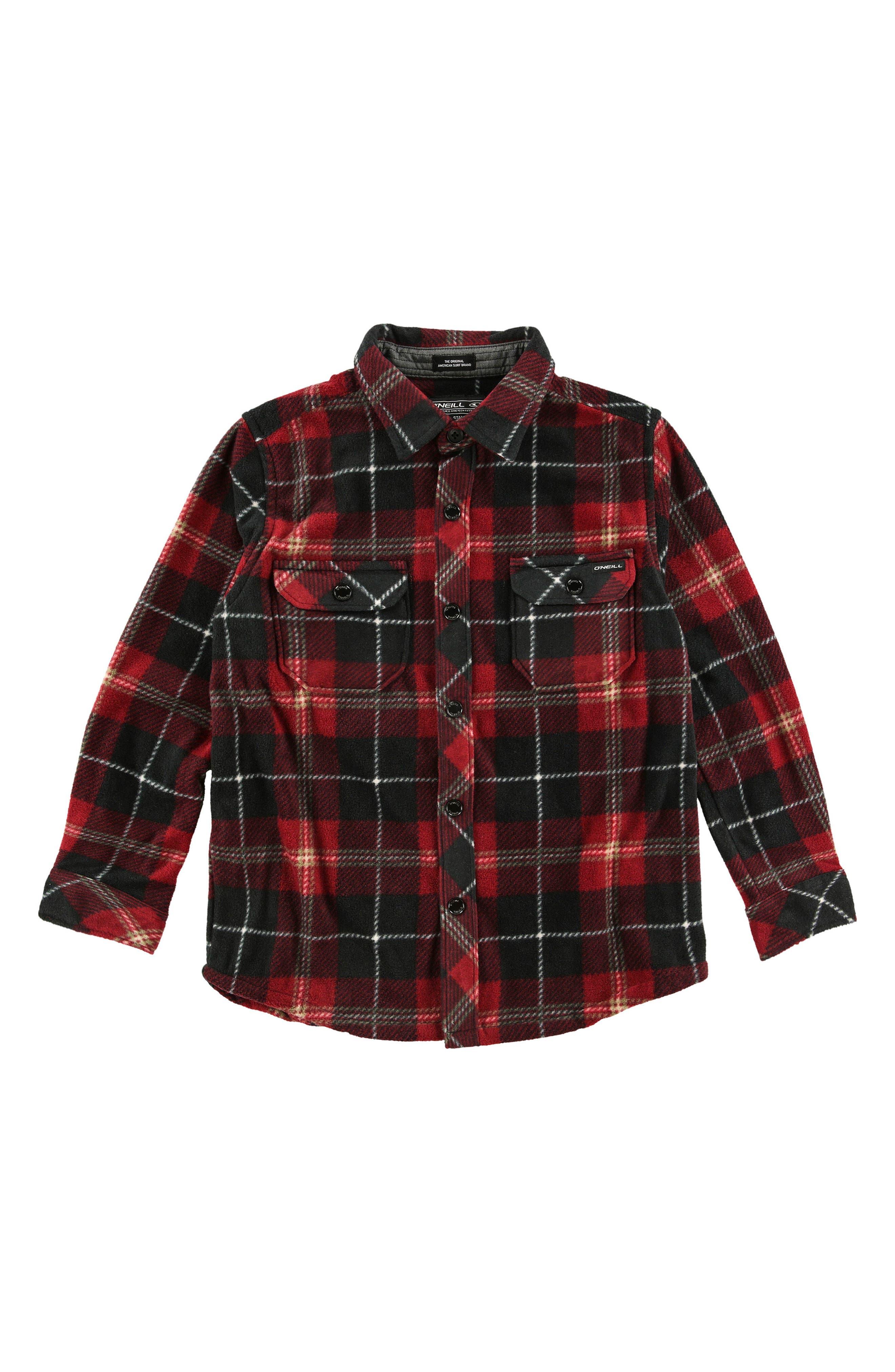 Glacier Plaid Shirt,                         Main,                         color, Black