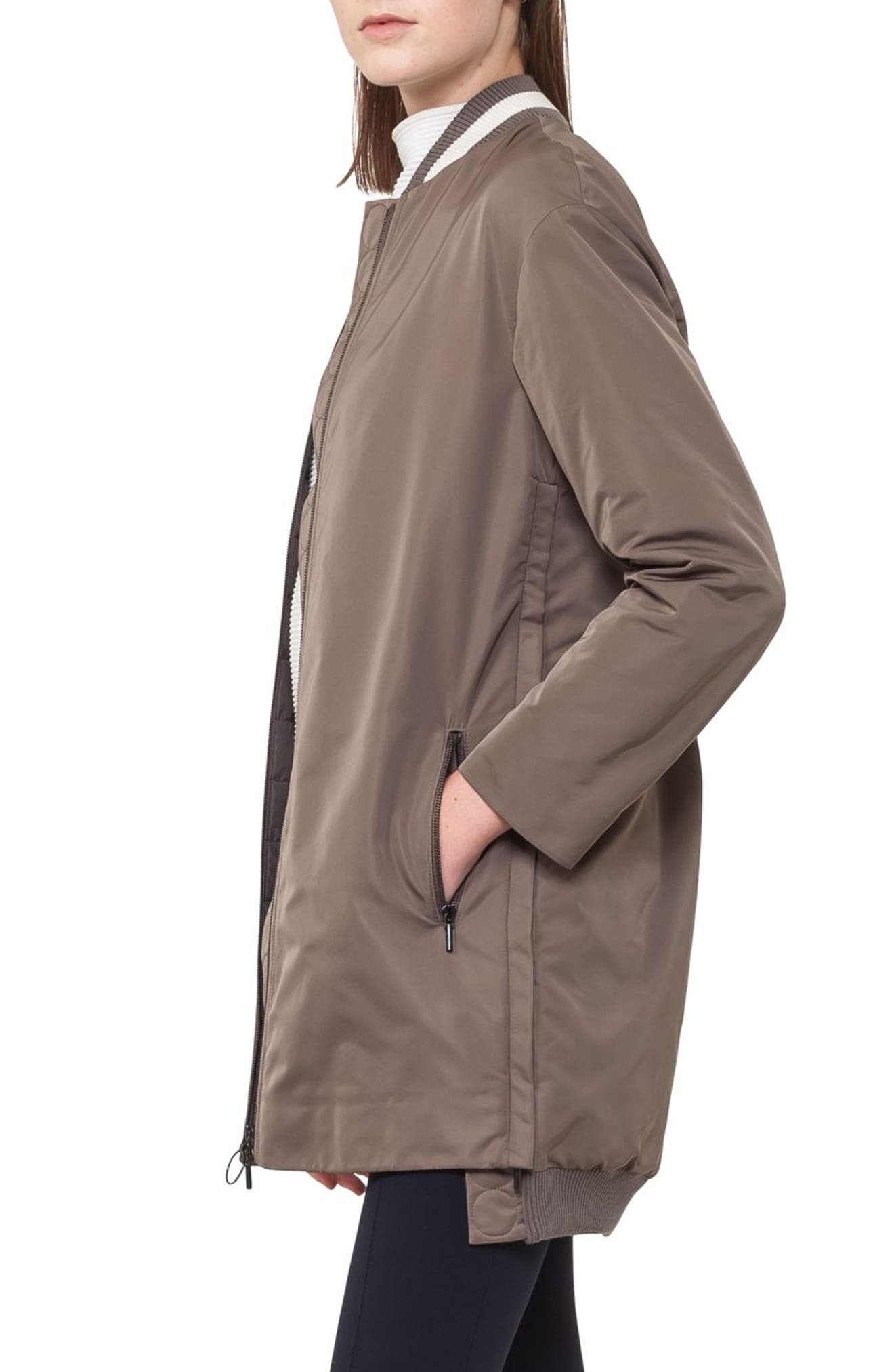 Techno Bomber Coat,                             Alternate thumbnail 3, color,                             Taupe