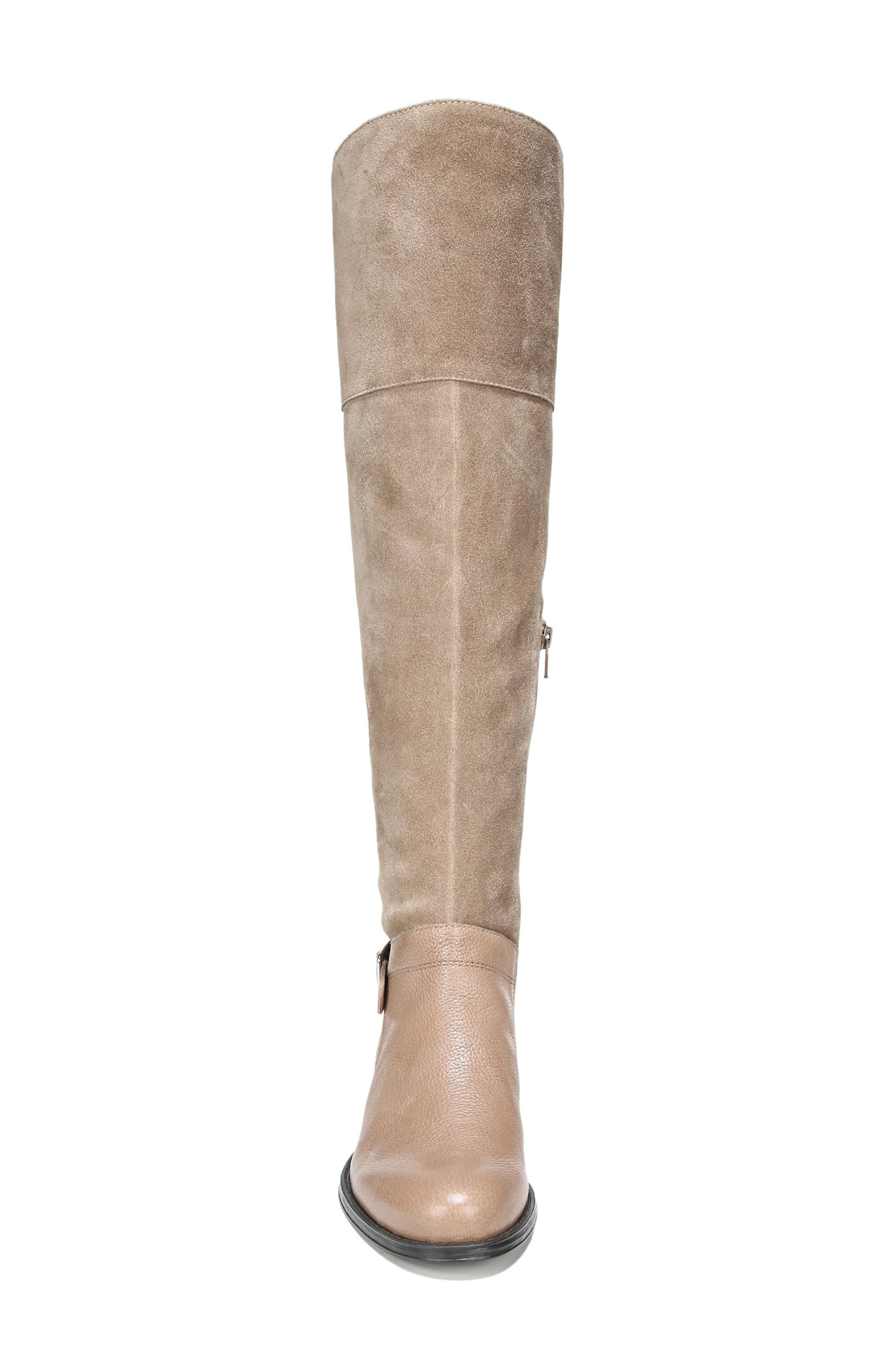 January Over the Knee High Boot,                             Alternate thumbnail 4, color,                             Beige Leather