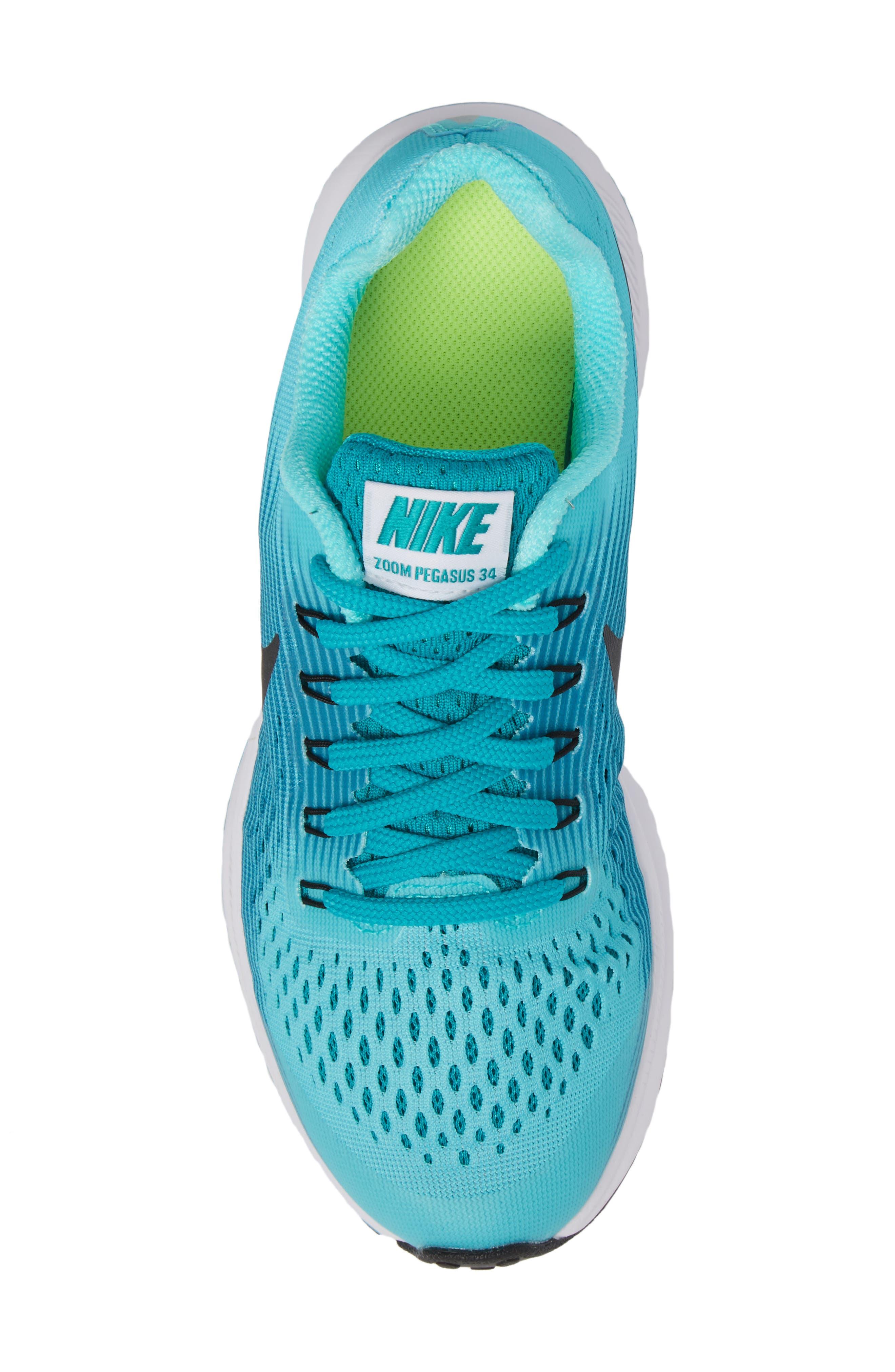 Alternate Image 5  - Nike Zoom Pegasus 34 Sneaker (Little Kid & Big Kid)