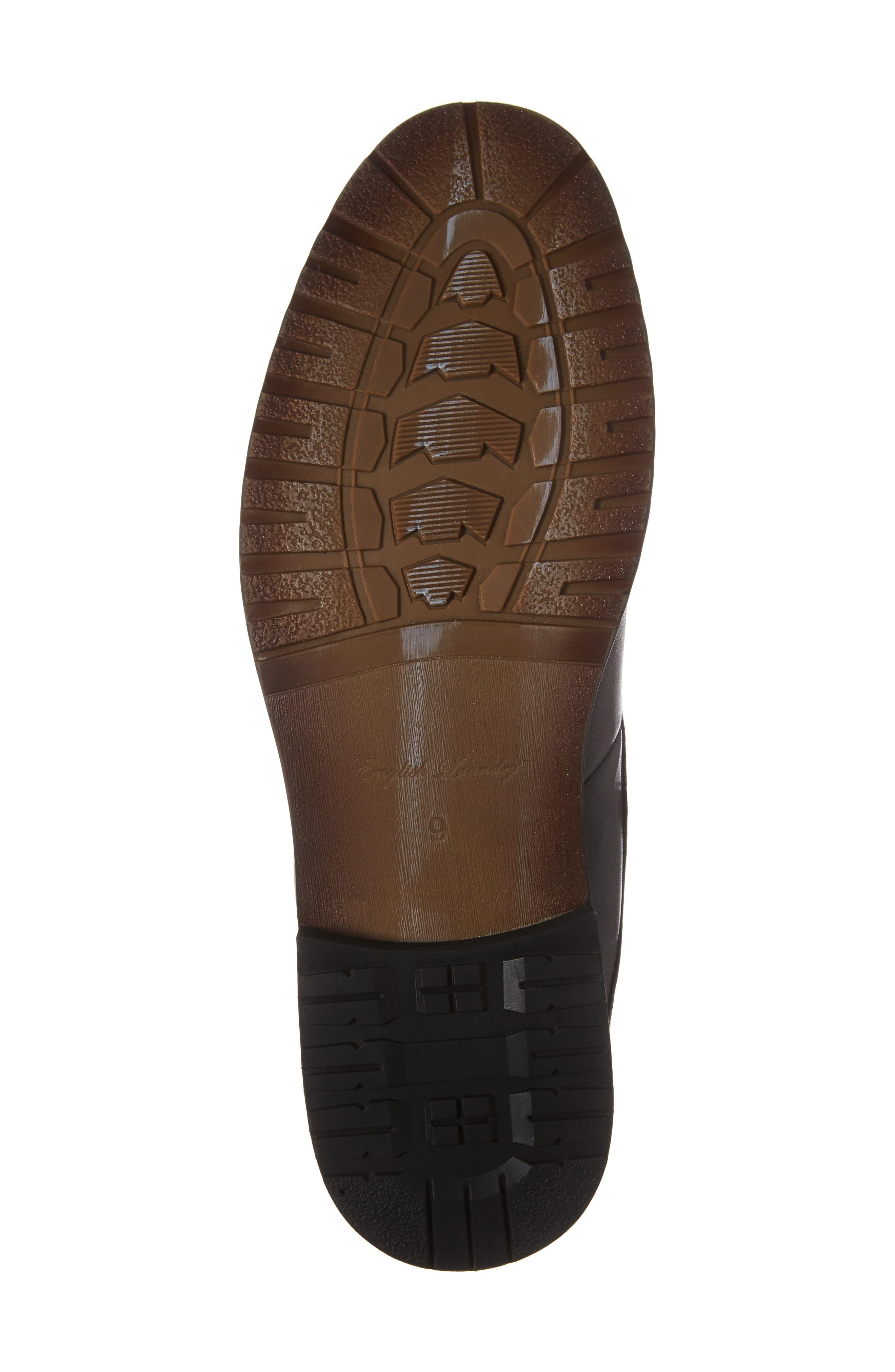 Oaks Chelsea Boot,                             Alternate thumbnail 6, color,                             Black Leather