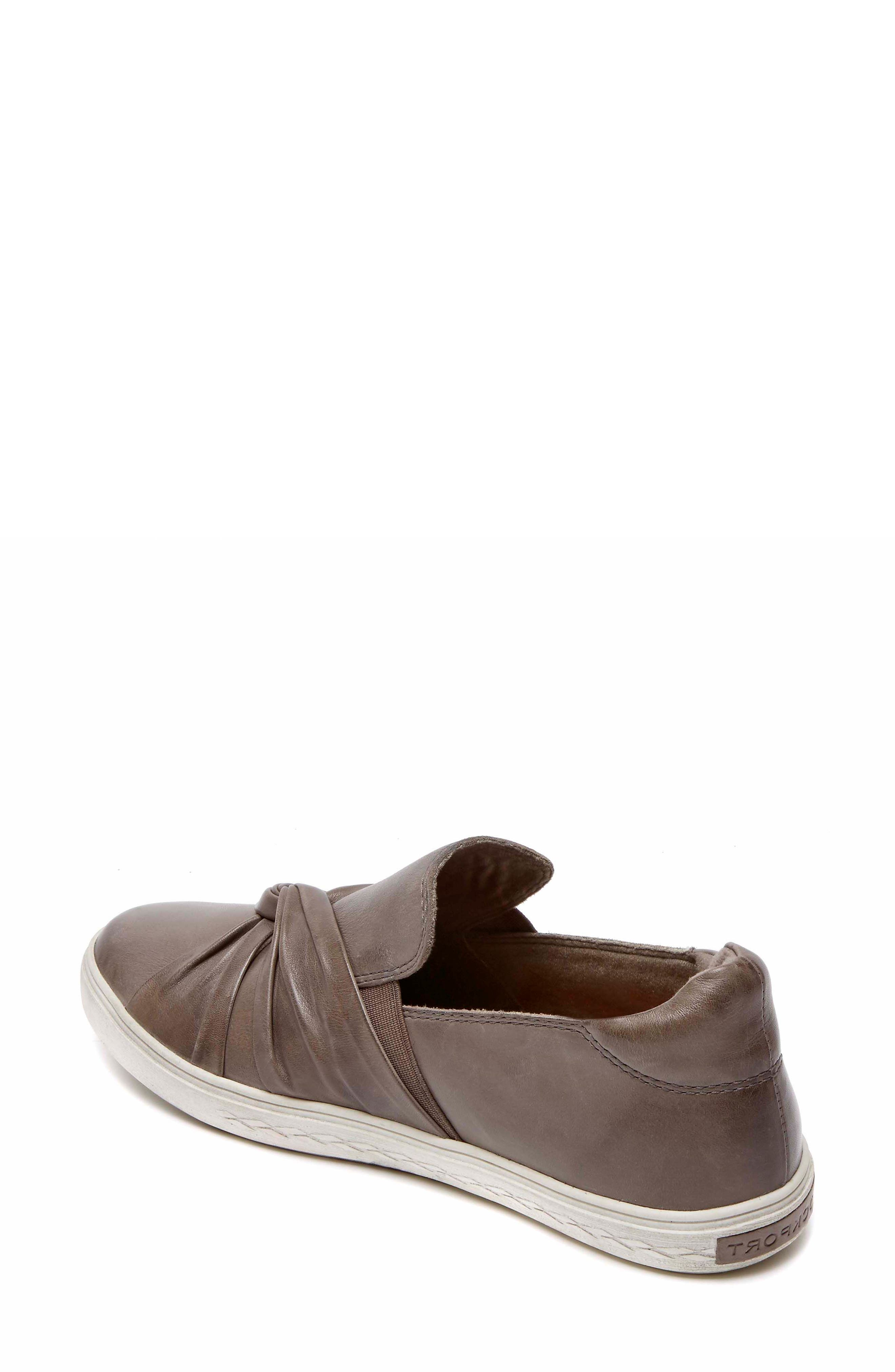 Willa Bow Slip-On,                             Alternate thumbnail 2, color,                             Grey Leather