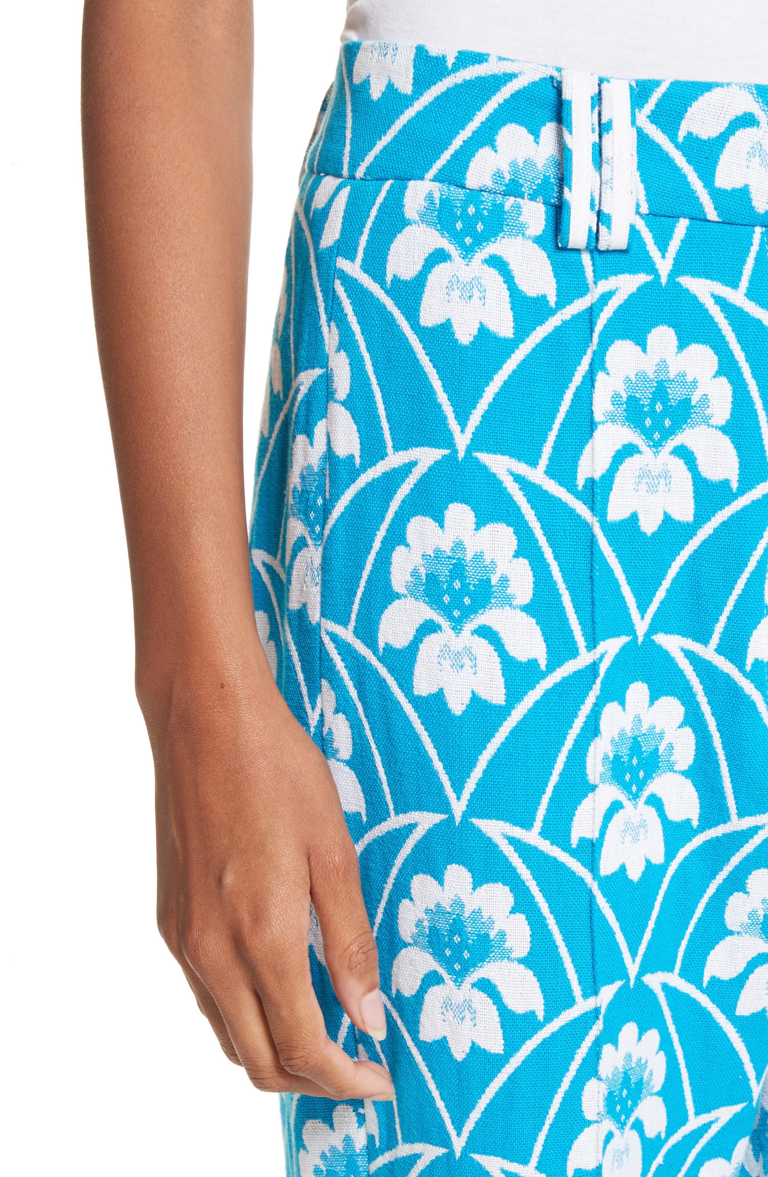 Alternate Image 4  - Richard Malone Floral Slim Leg Trousers