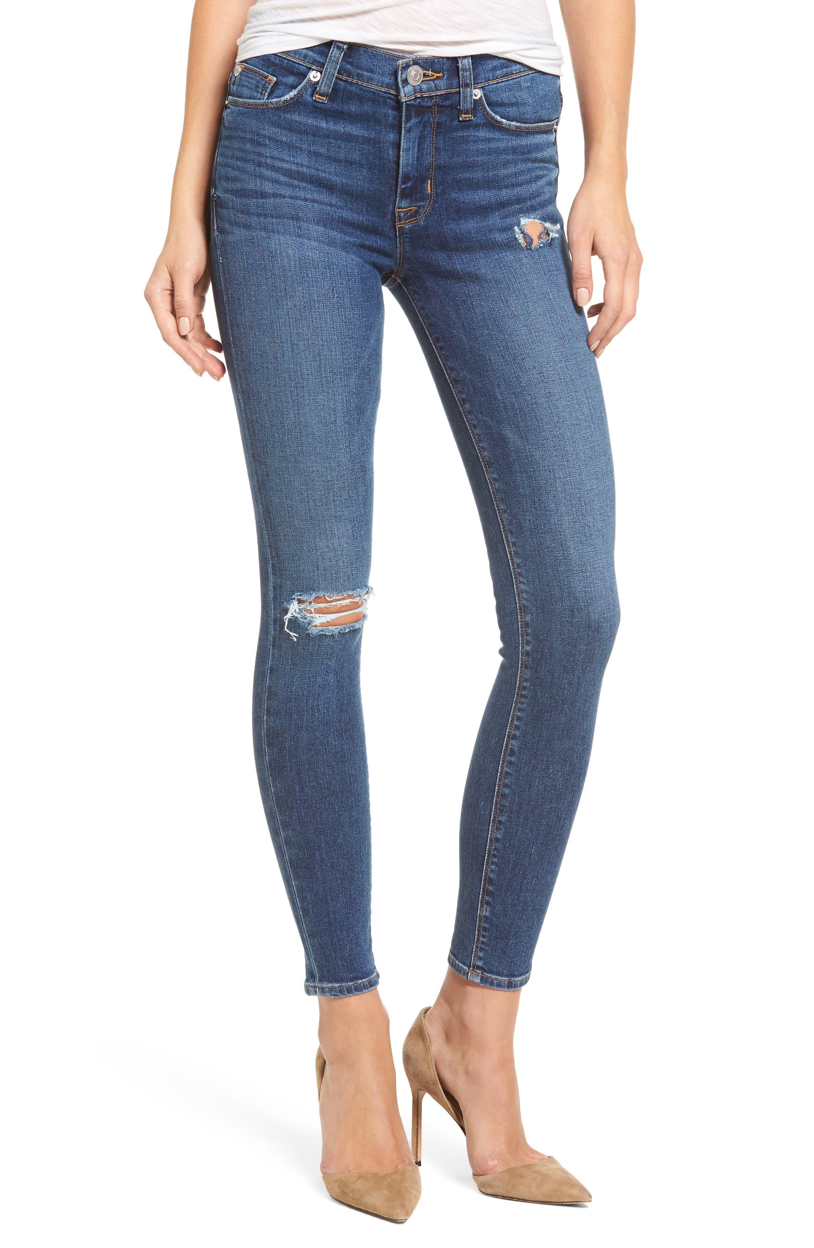 Main Image - Hudson Jeans Nico Ankle Super Skinny Jeans (Jigsaw)