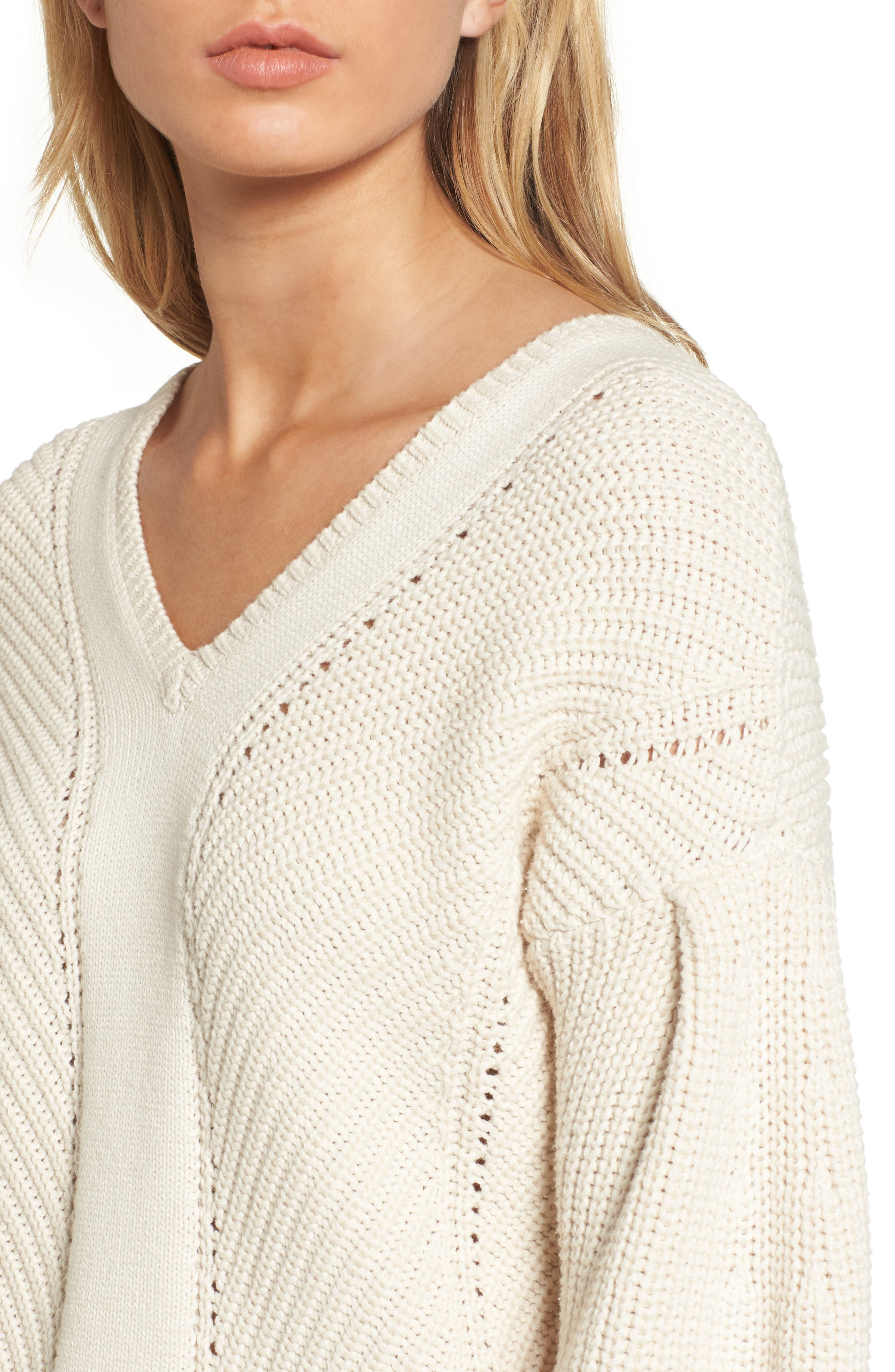 Millie Mozart Sweater,                             Alternate thumbnail 4, color,                             Classic Cream