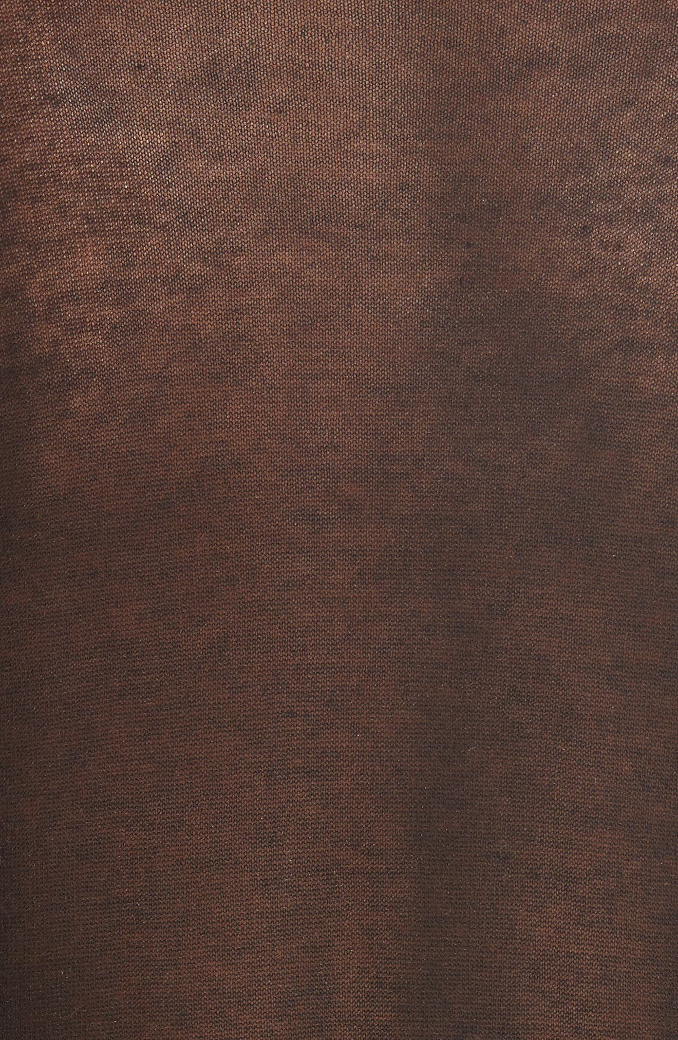 Drape Back Merino Wool Sweater,                             Alternate thumbnail 5, color,                             Black