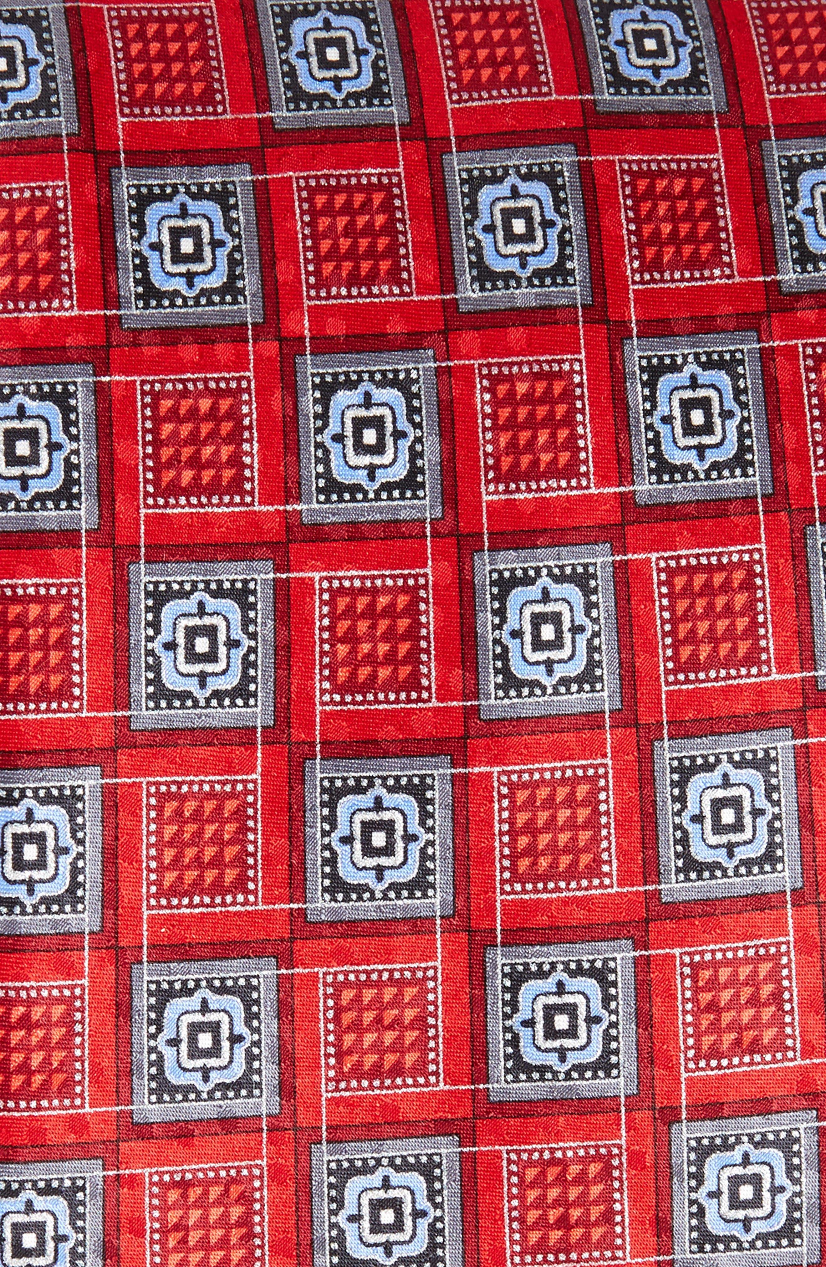 Alternate Image 2  - Nordstrom Men's Shop Geo Silk Tie (X-Long)