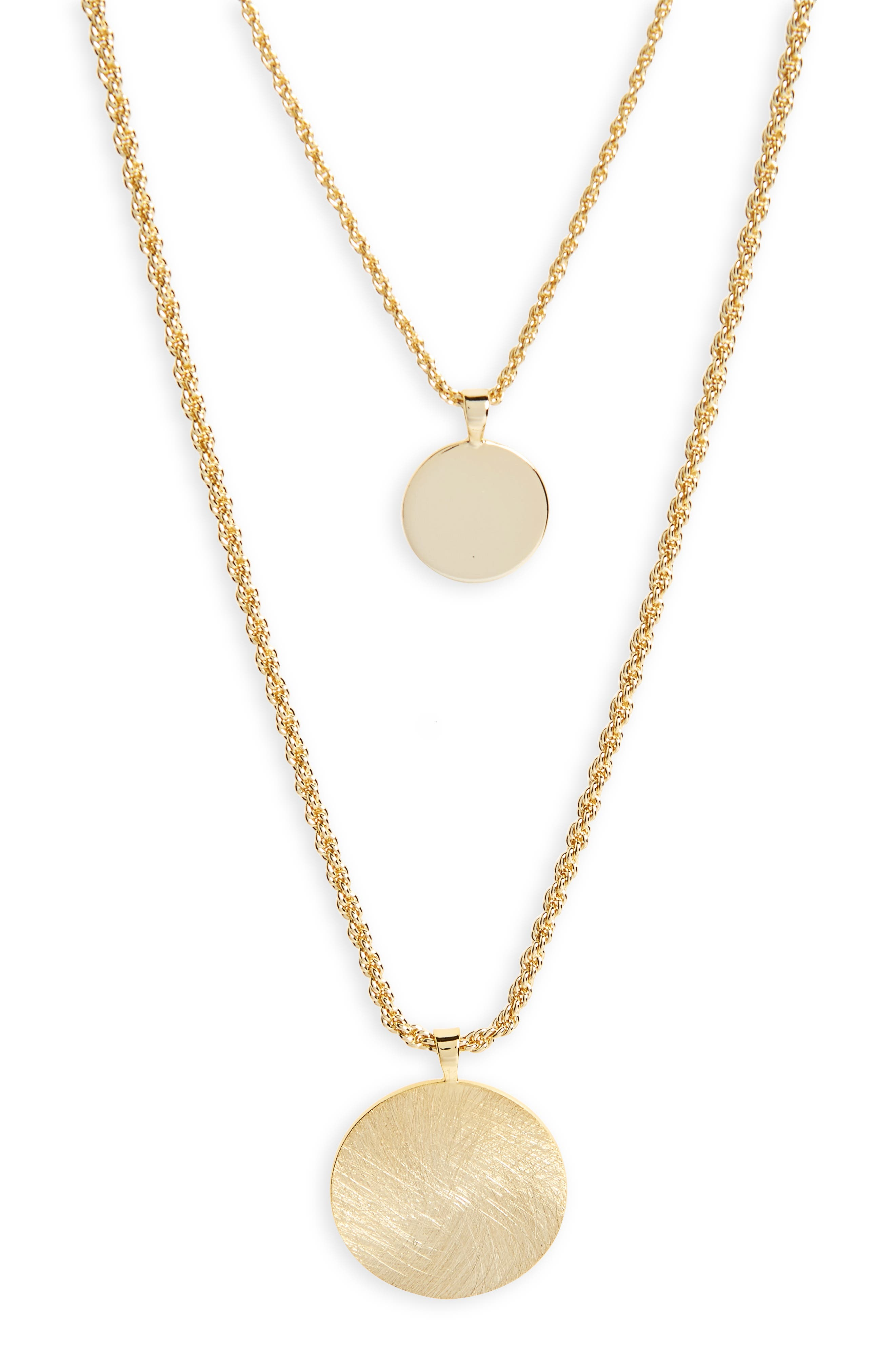 Alternate Image 2  - Halogen® Double Layer Necklace