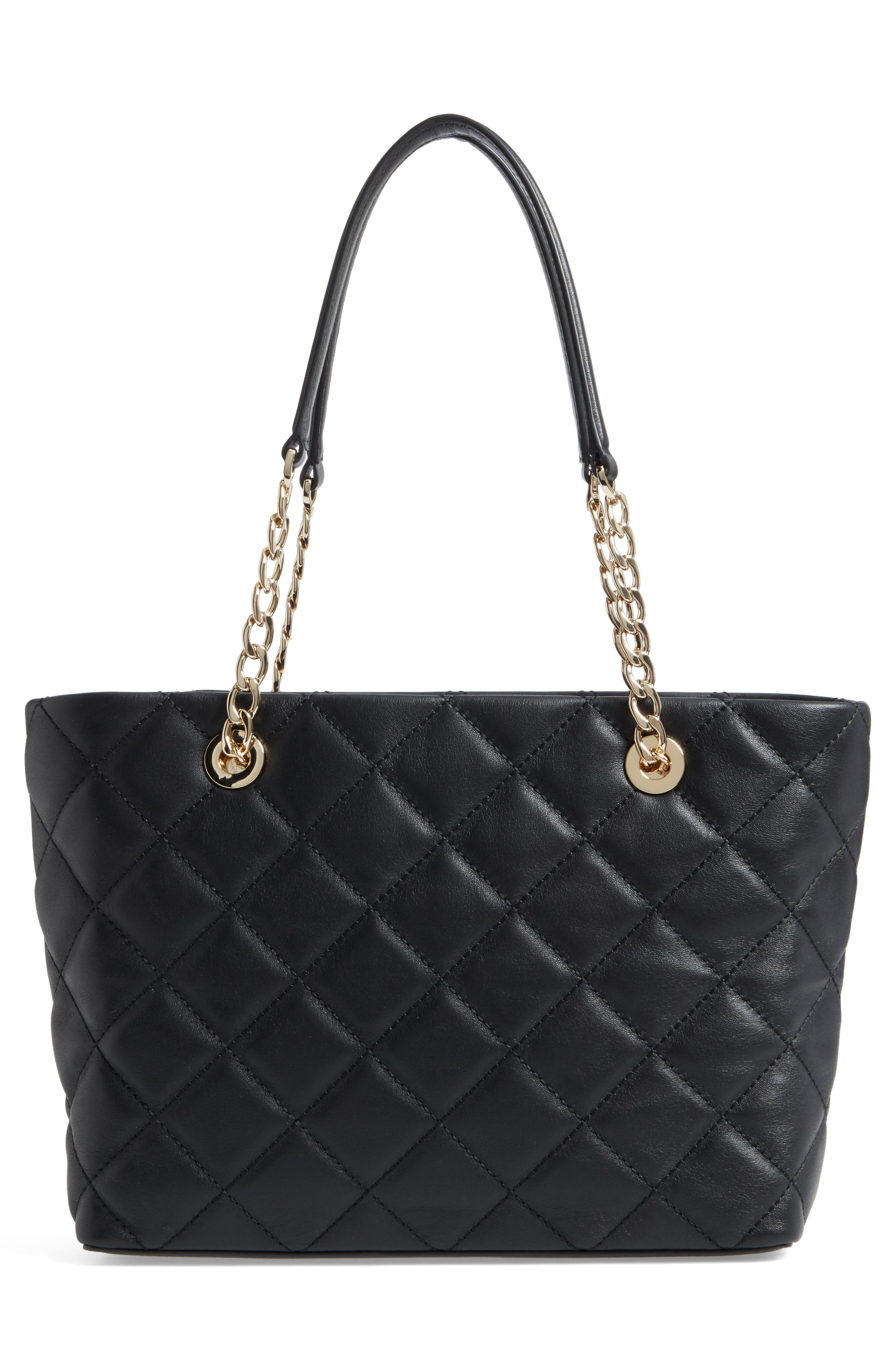 small emerson place - priya quilted leather tote,                             Alternate thumbnail 2, color,                             Black