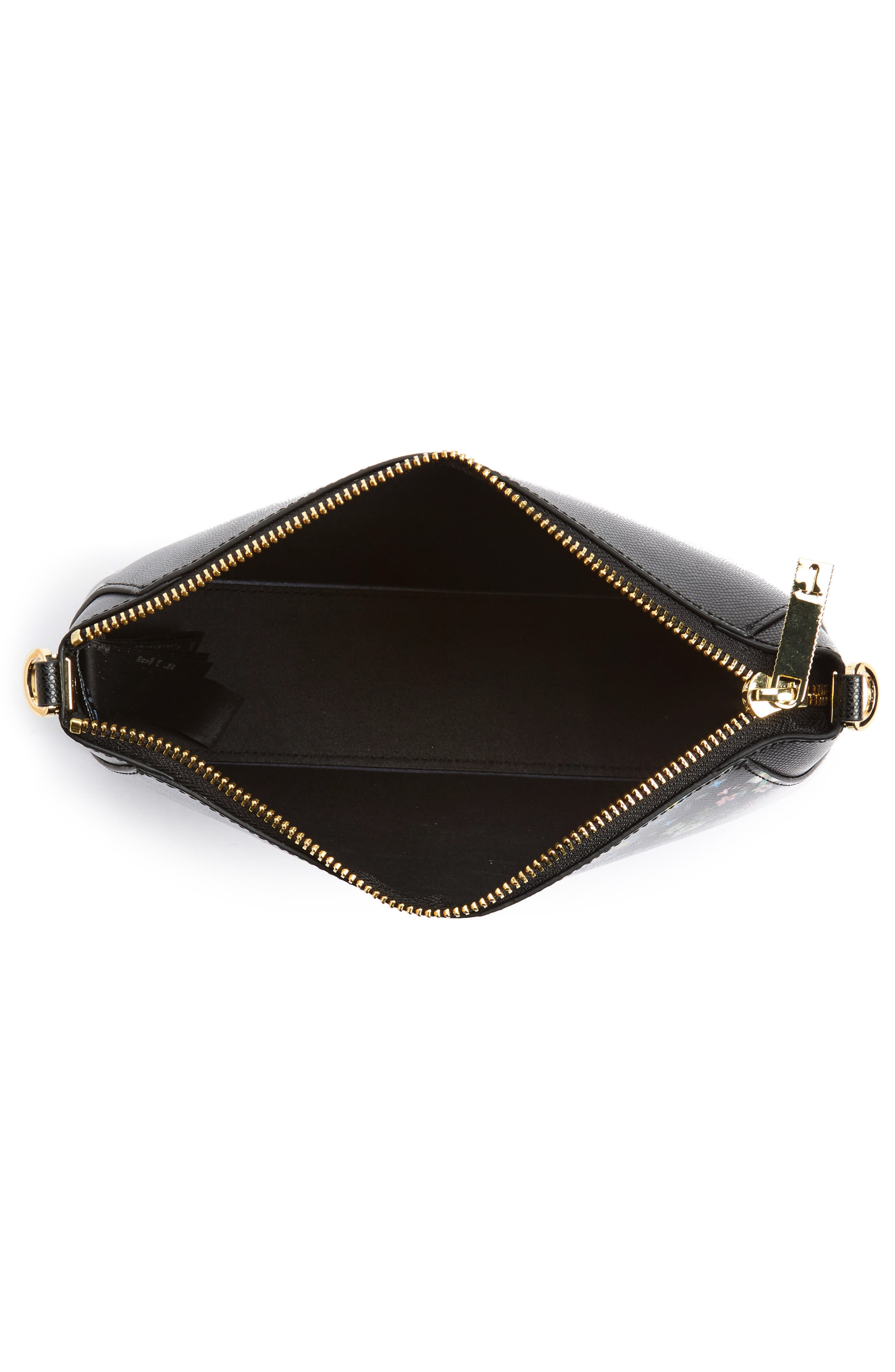 Sofhi Unity Flag Leather Crossbody Bag,                             Alternate thumbnail 3, color,                             Black