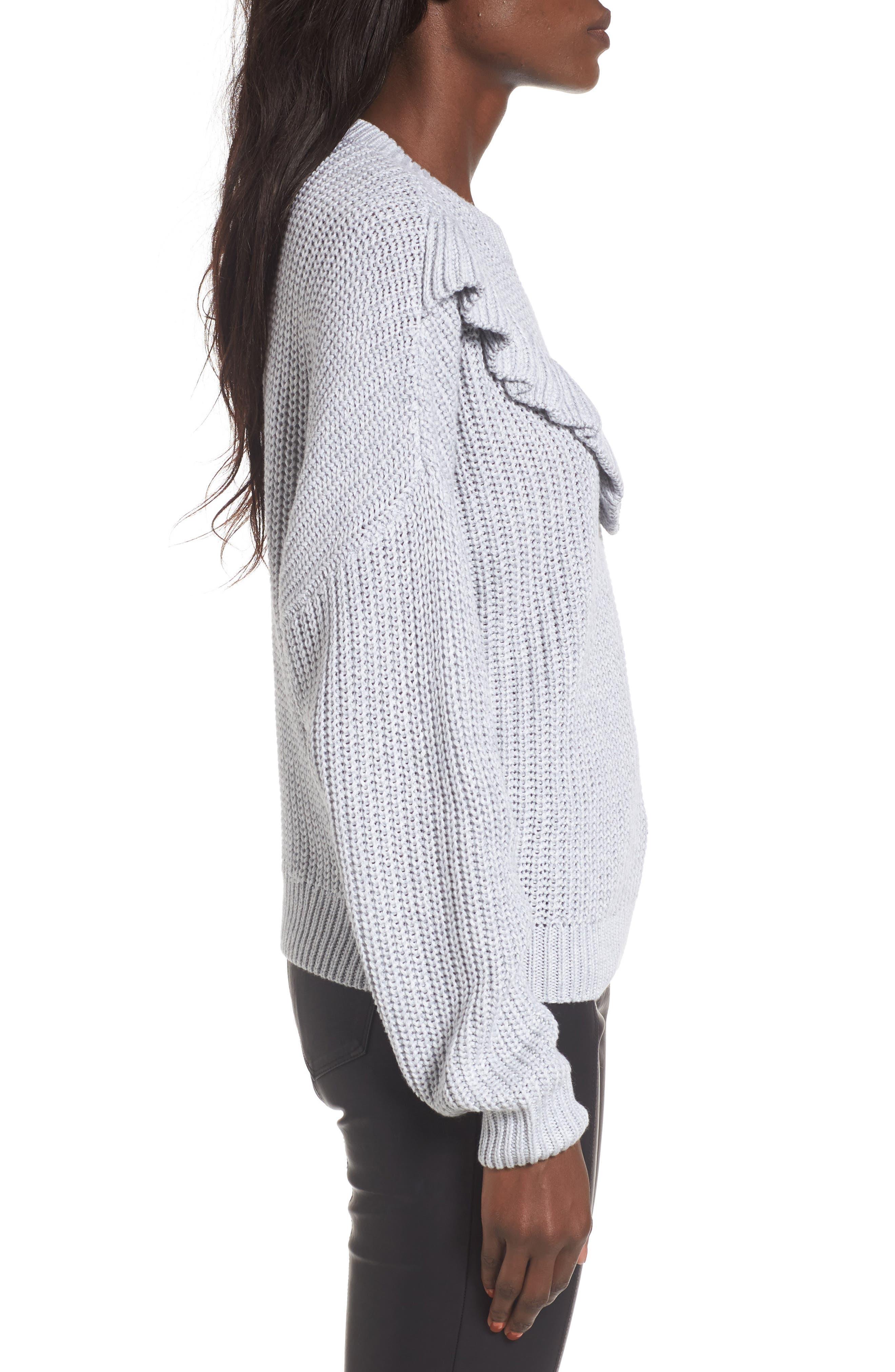 Alternate Image 3  - BLANKNYC Ruffle Yoke Sweater