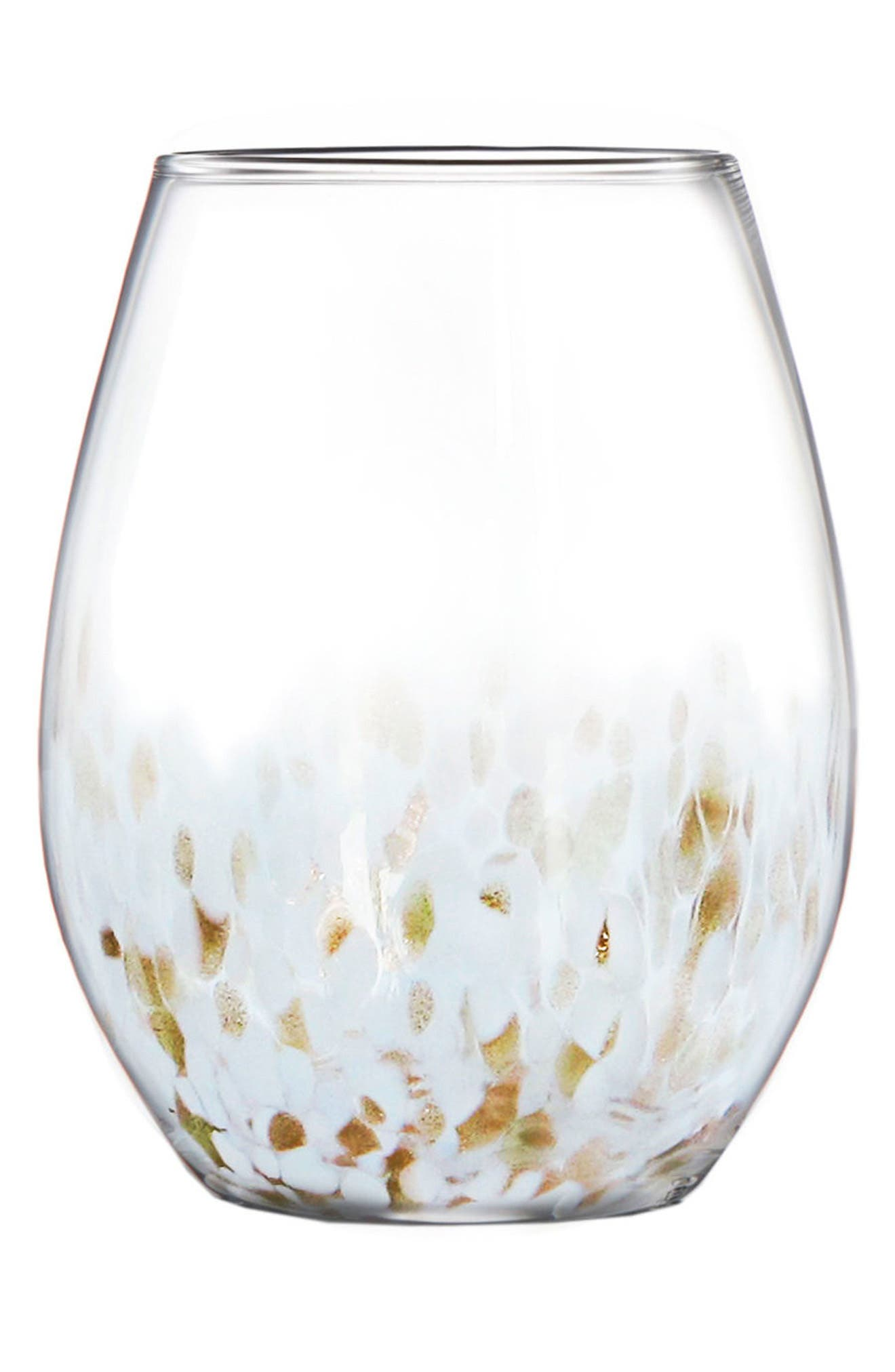 Hannah Stemless Wine Glass,                         Main,                         color, Gold